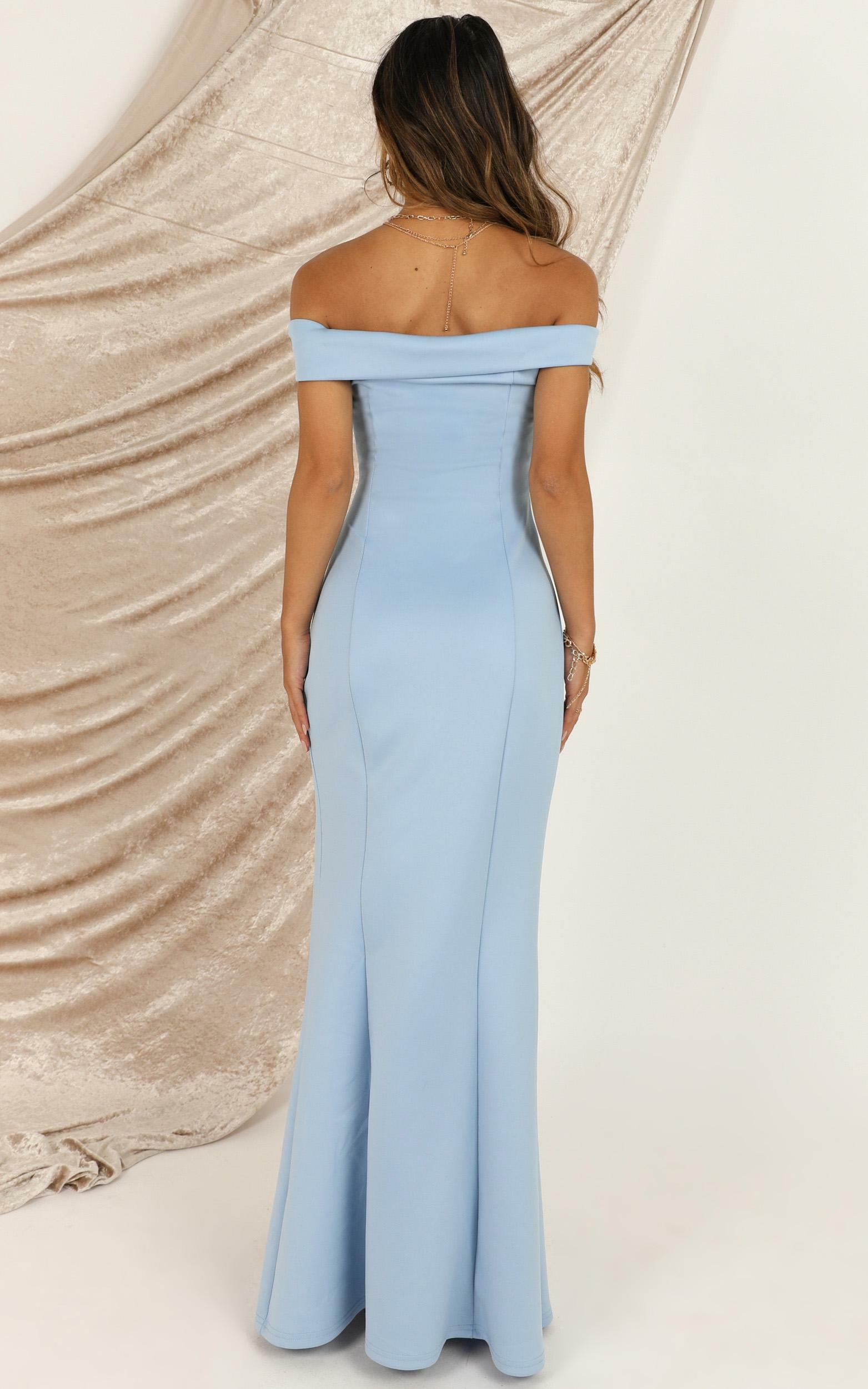 One For The Money Dress in powder blue - 8 (S), Blue, hi-res image number null