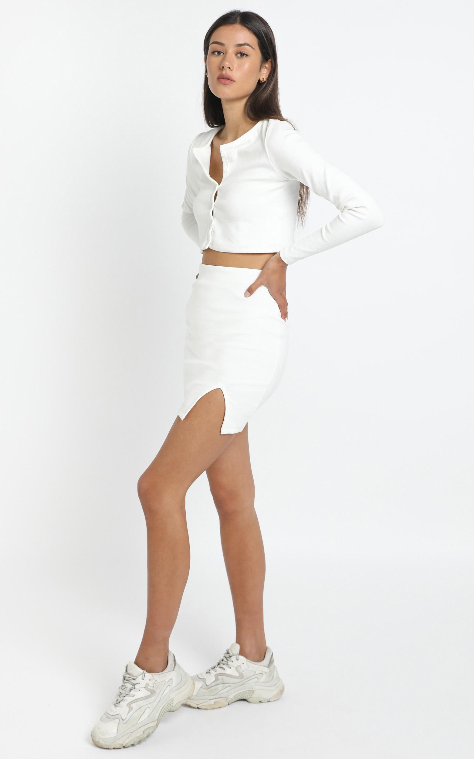Evelyn Two Piece Set in White - 12 (L), White, hi-res image number null