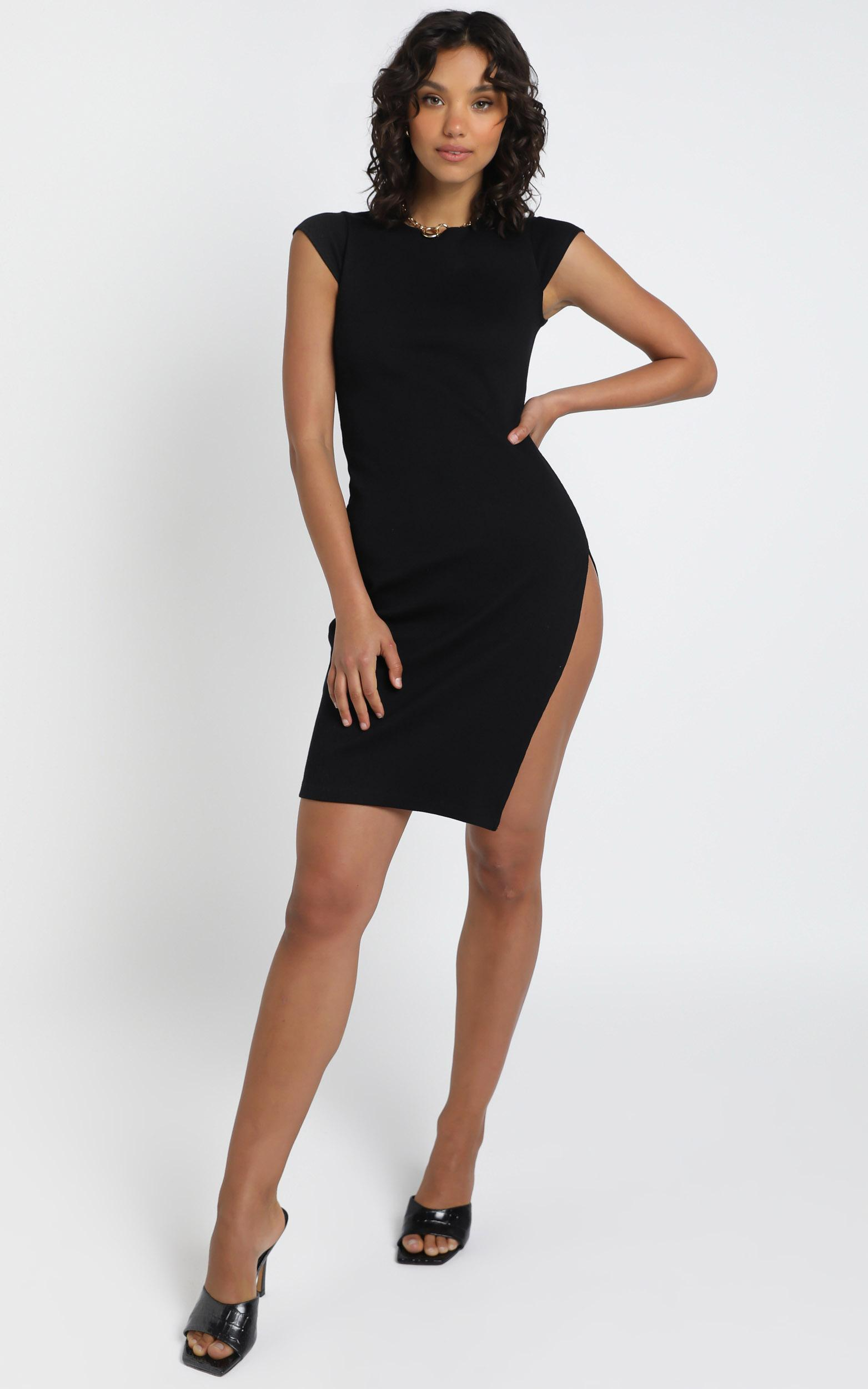 Lioness - Don't Blame me Midi dress in Black - 6 (XS), Black, hi-res image number null