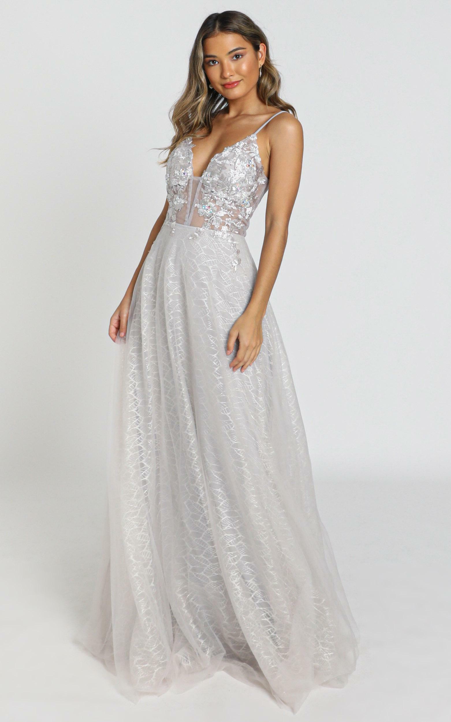 Nashville Dress in ice grey - 8 (S), Grey, hi-res image number null