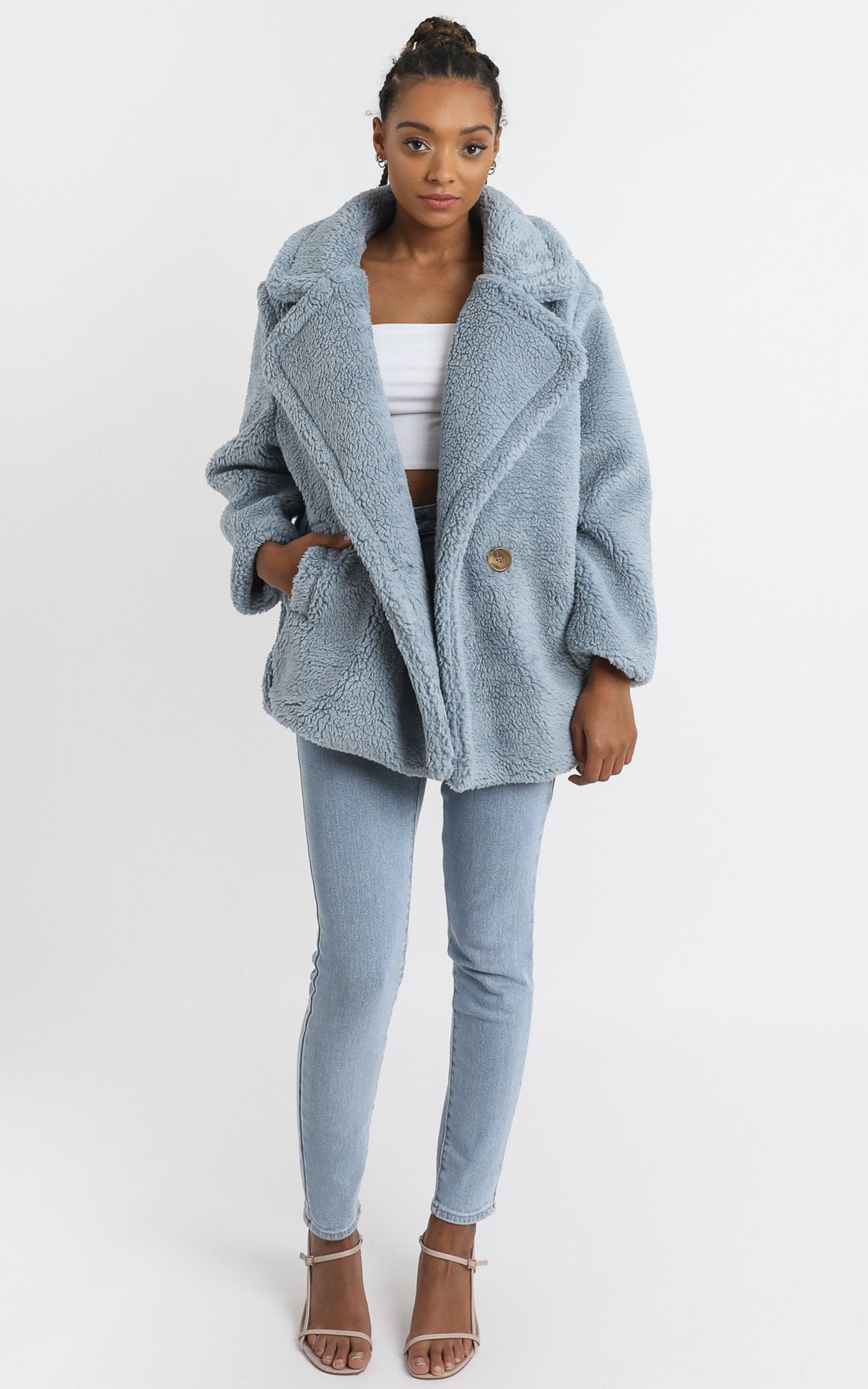 Aila Coat in Blue - 8 (S), Blue, hi-res image number null