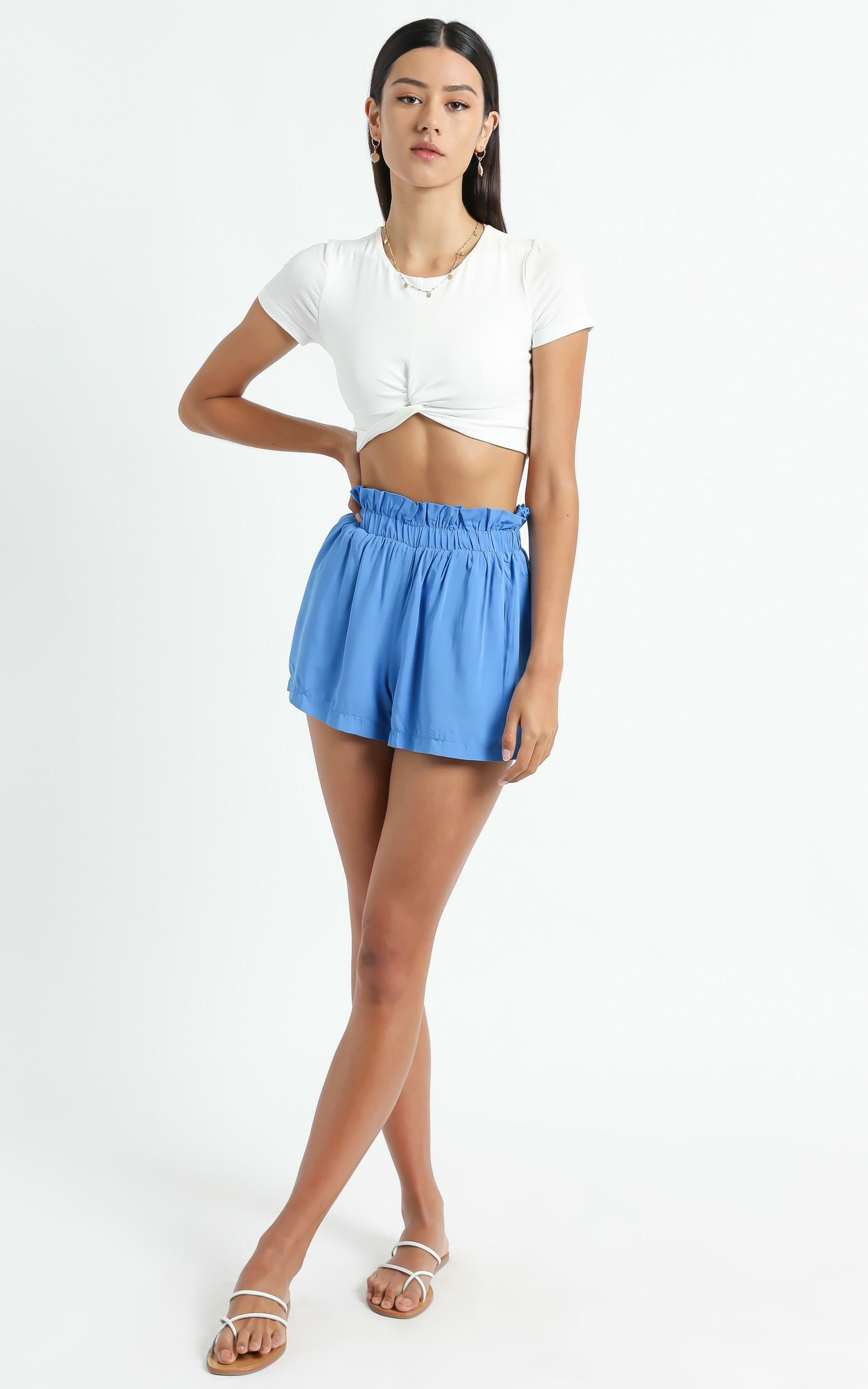 Thilia Shorts in Blue - 6 (XS), Blue, hi-res image number null