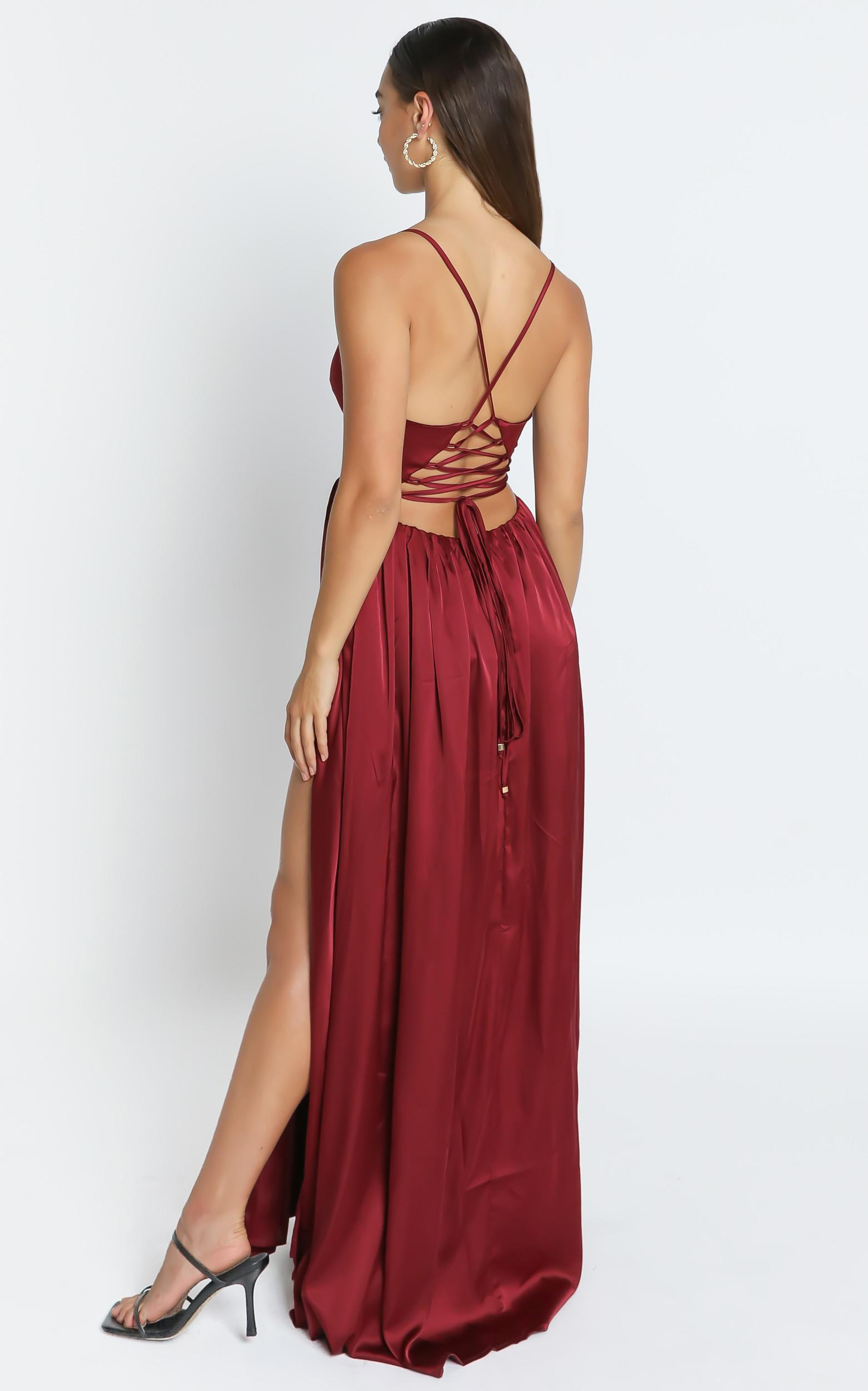 I Want The World To Know Dress In Wine - 6 (XS), Wine, hi-res image number null