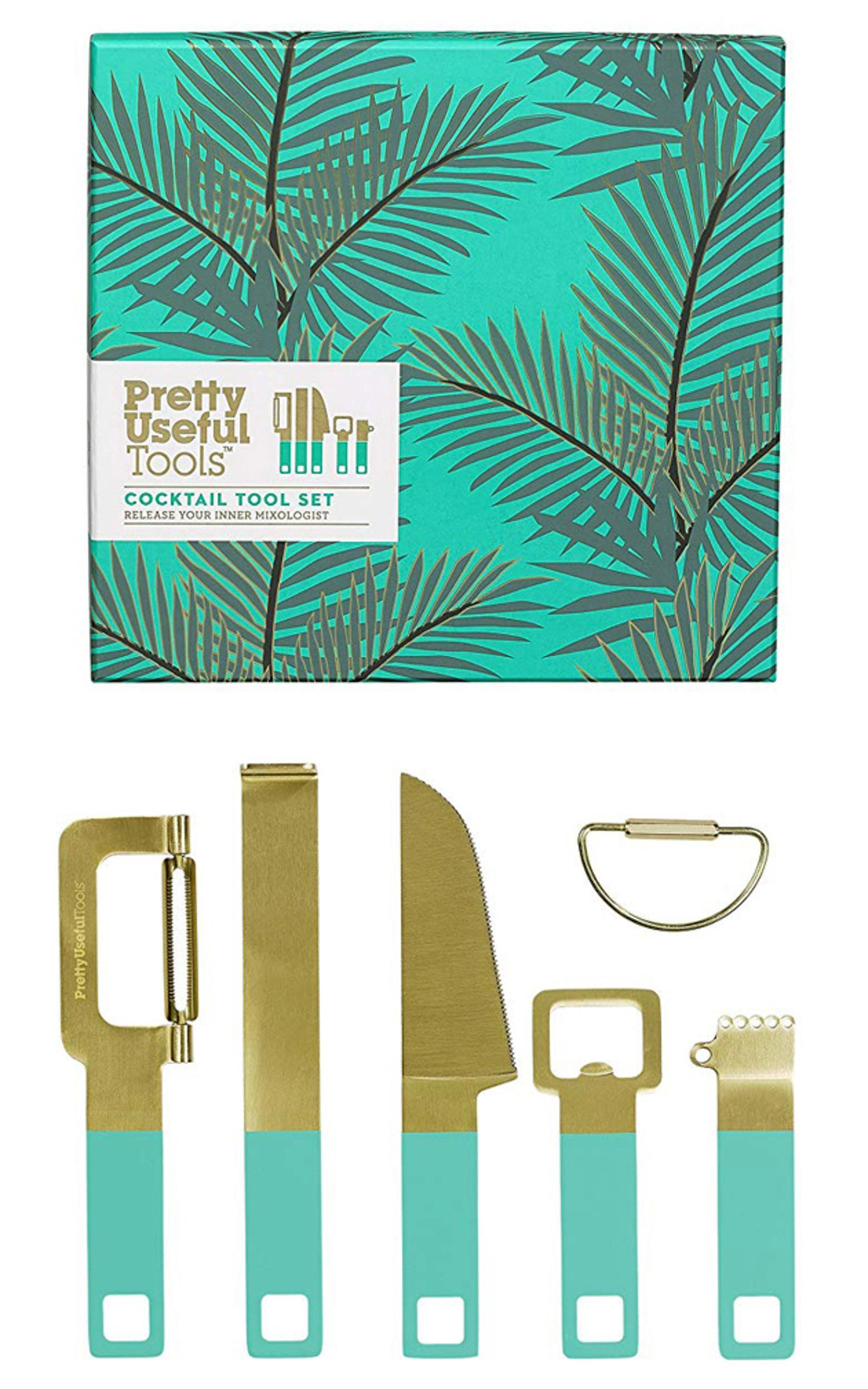 Pretty Useful Tools - Cocktail Tool Set In Tropical Topaz, , hi-res image number null