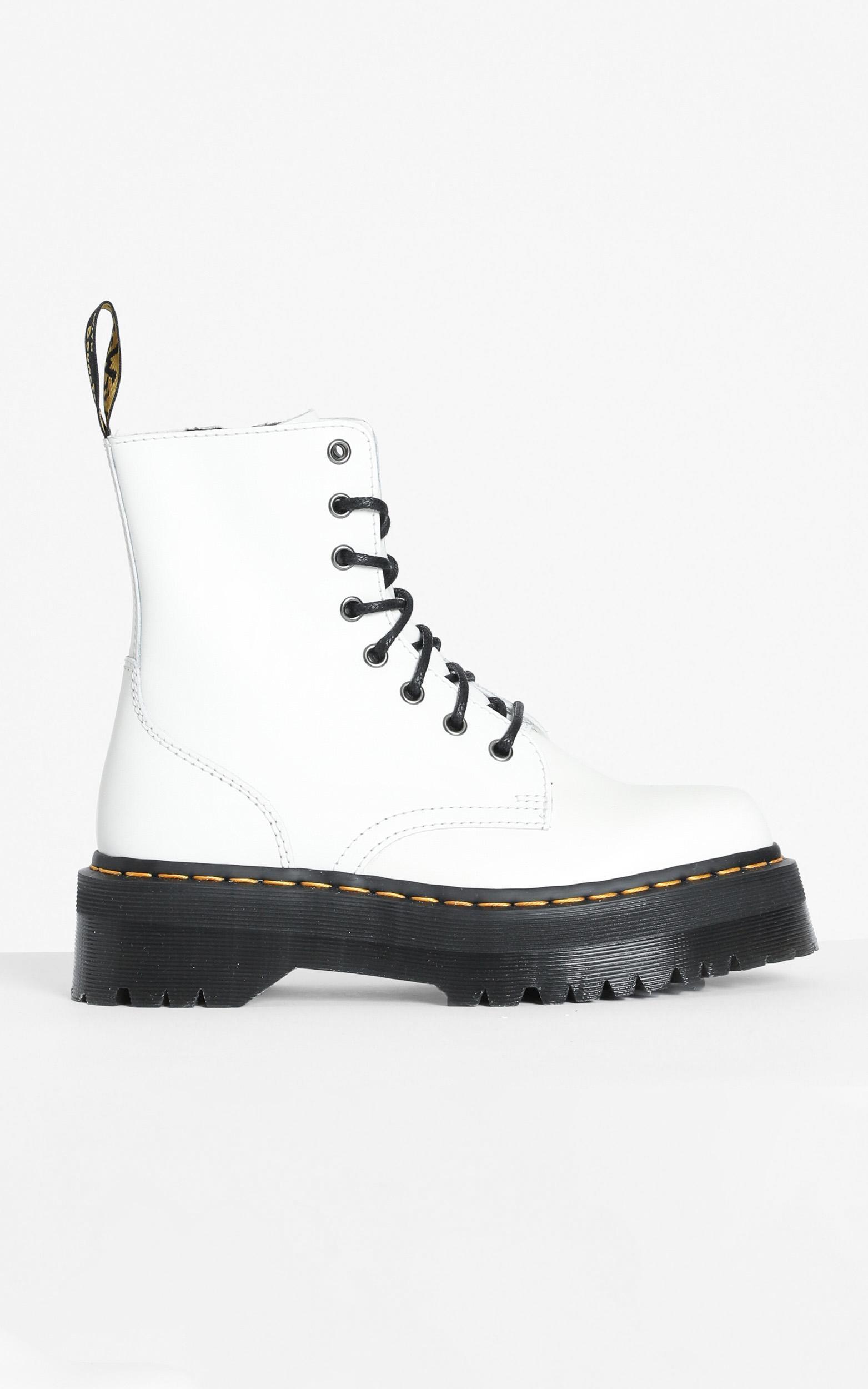 Dr. Martens - Jadon 8 Eye Boot in White - 5, White, hi-res image number null