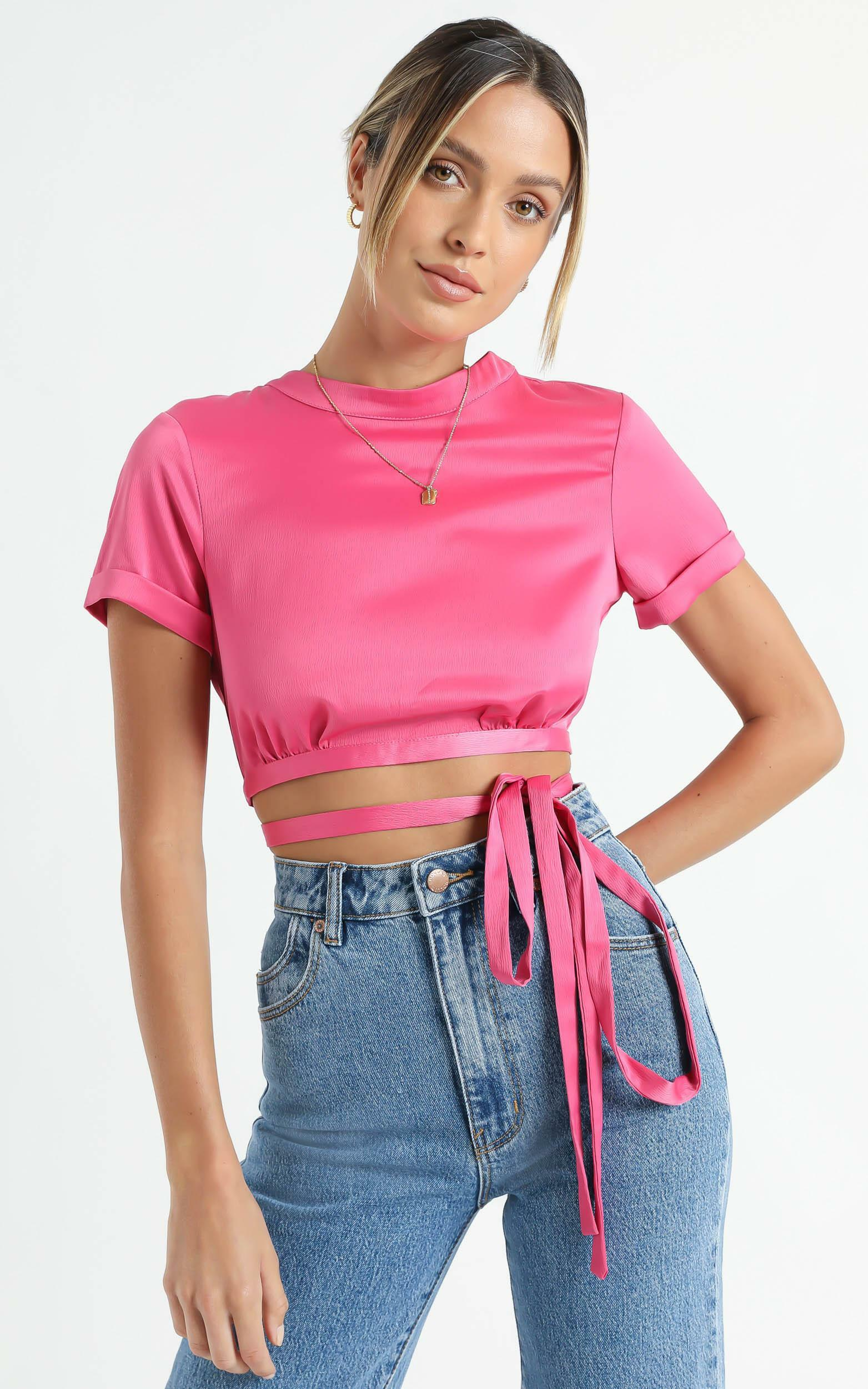 Dynasty Top in Fuschia - 6 (XS), Pink, hi-res image number null
