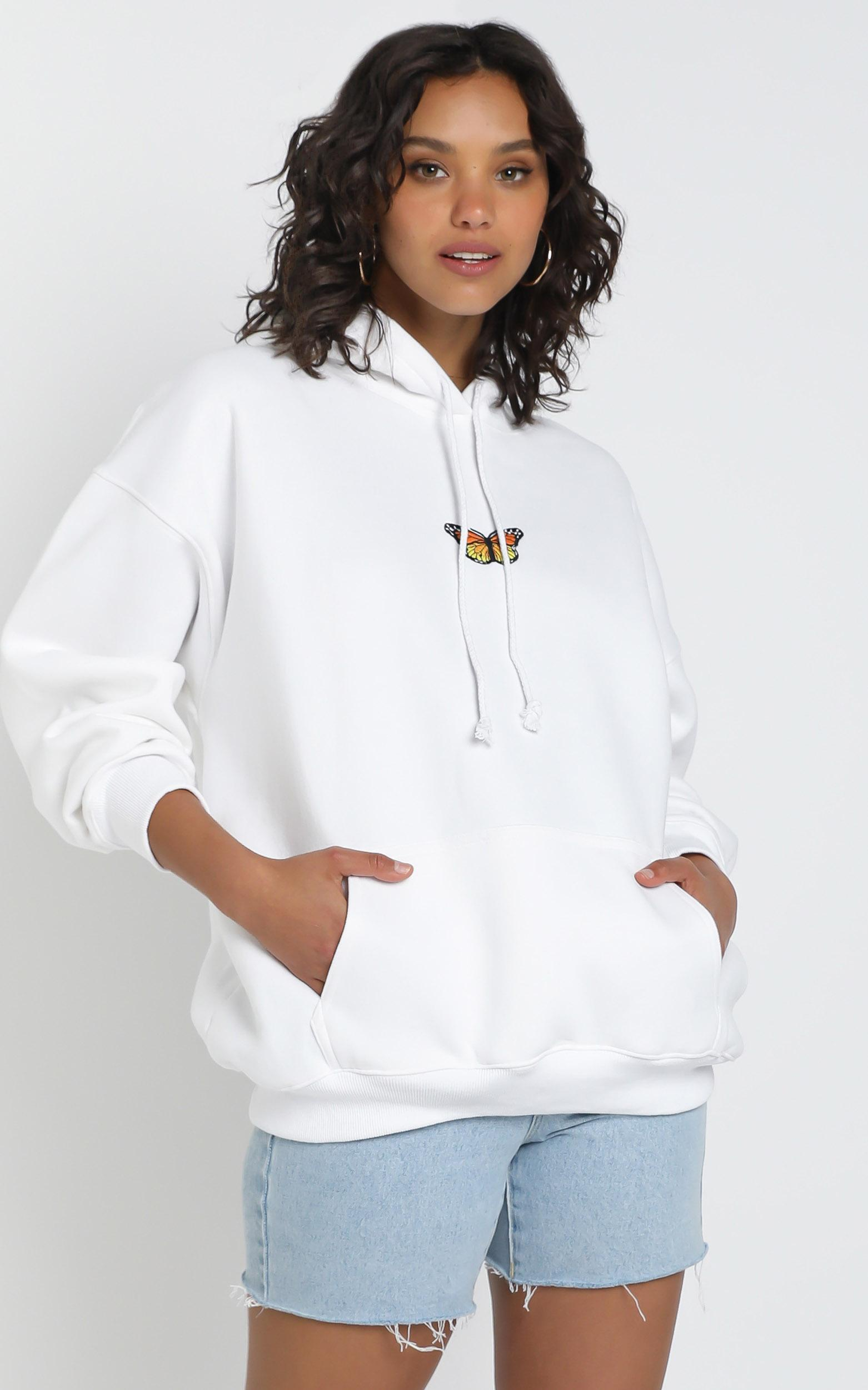 Addison Hoodie in White - L, White, hi-res image number null