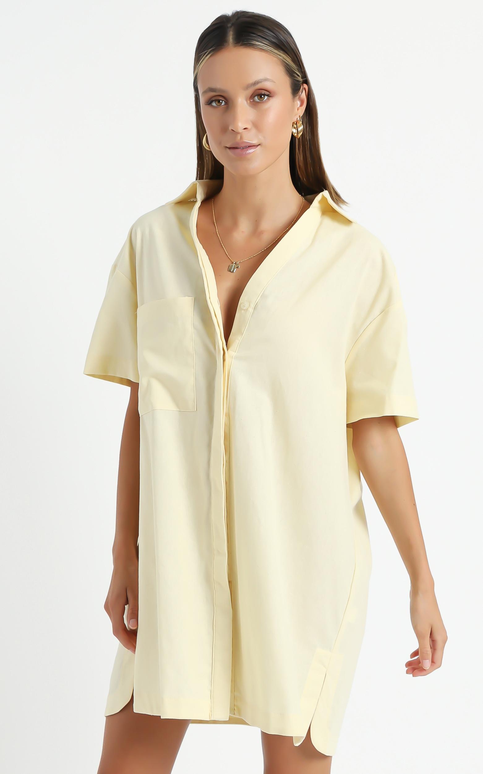 Carlijn Dress in Yellow - 6 (XS), Yellow, hi-res image number null