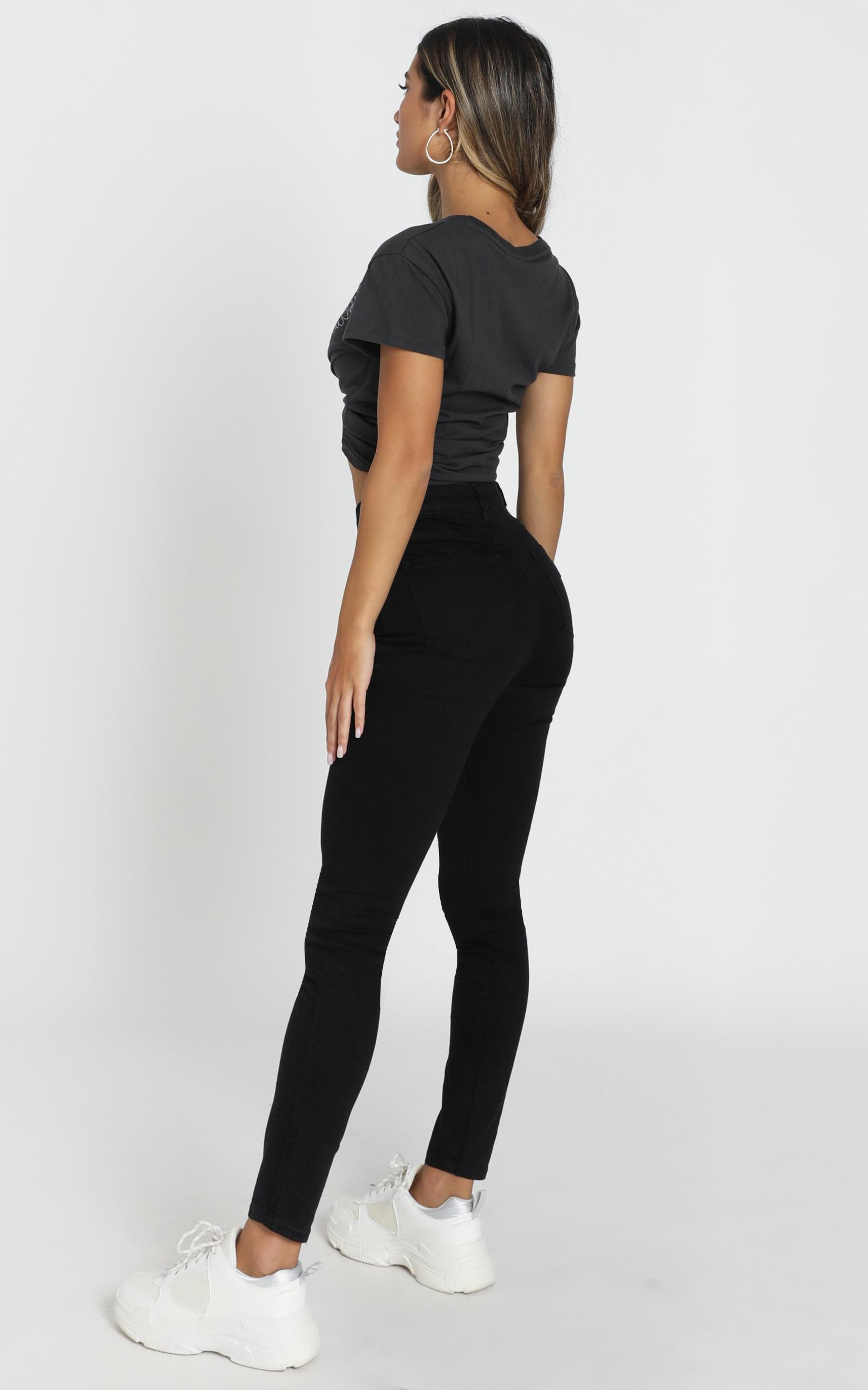 Abrand - A High Skinny Ankle Basher Jeans in black magic - 14 (XL), BLK2, hi-res image number null