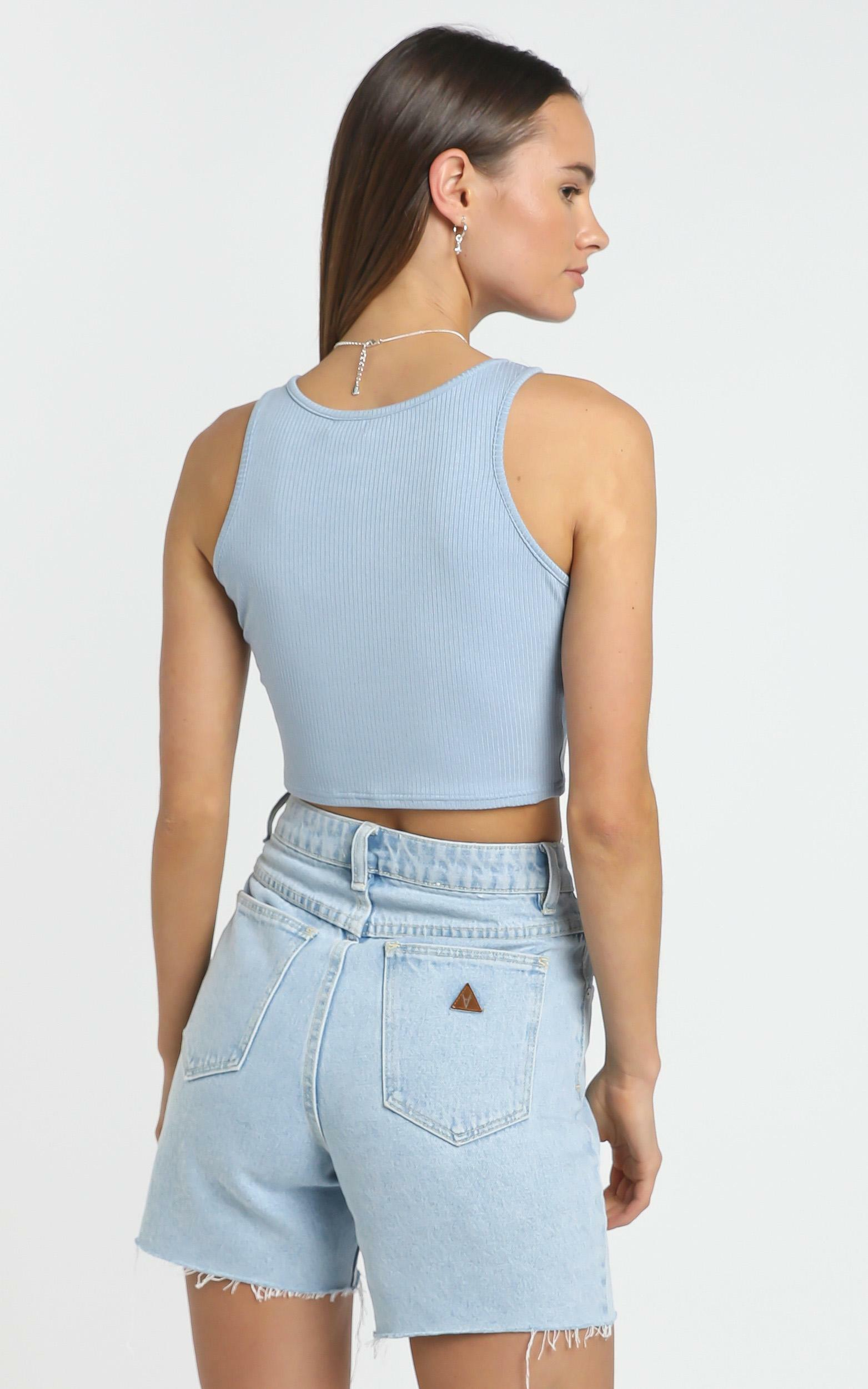 Dona Top in Blue - 14 (XL), Blue, hi-res image number null