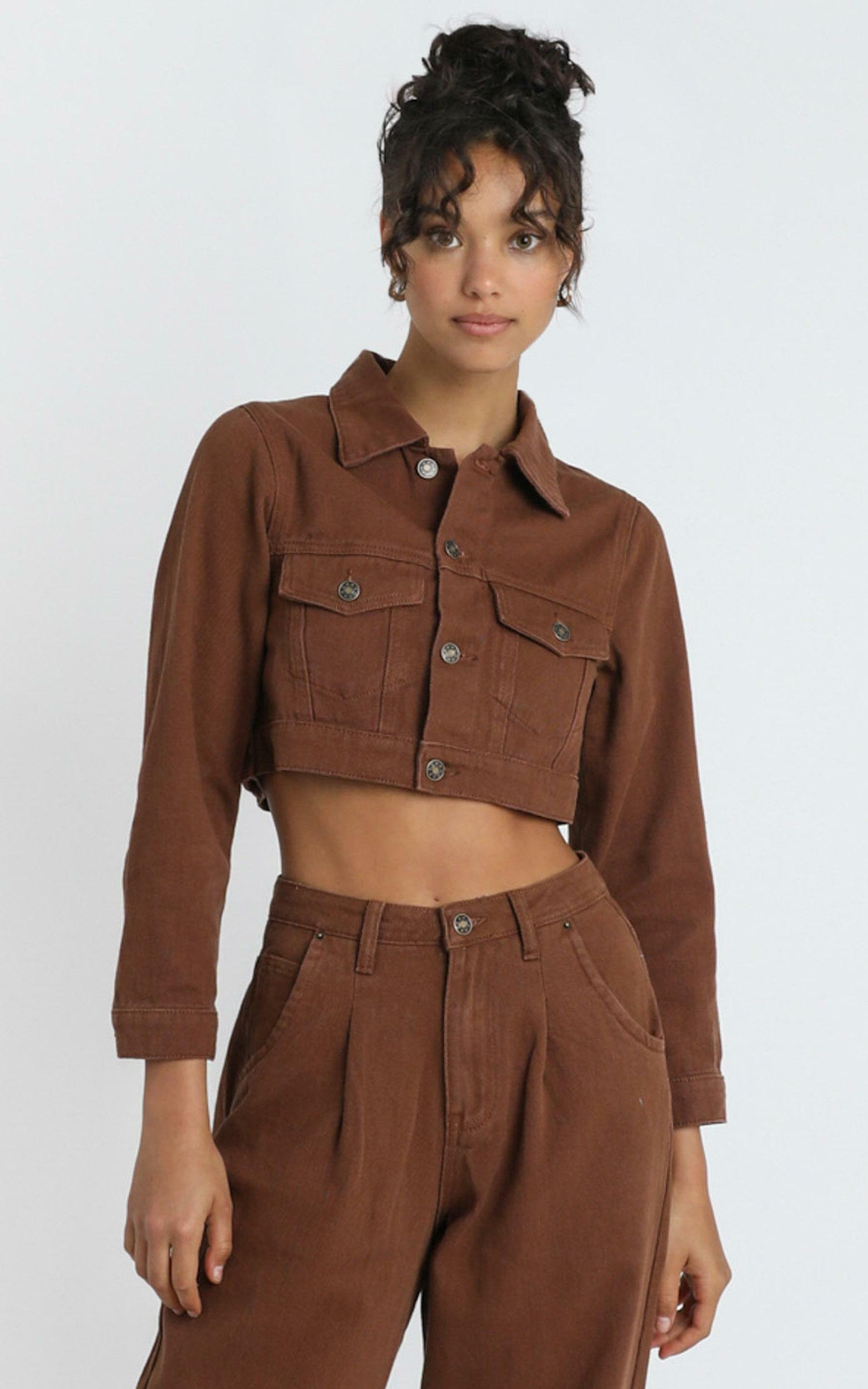 Lioness - The Mickey Jacket in Brown - 6 (XS), Brown, hi-res image number null