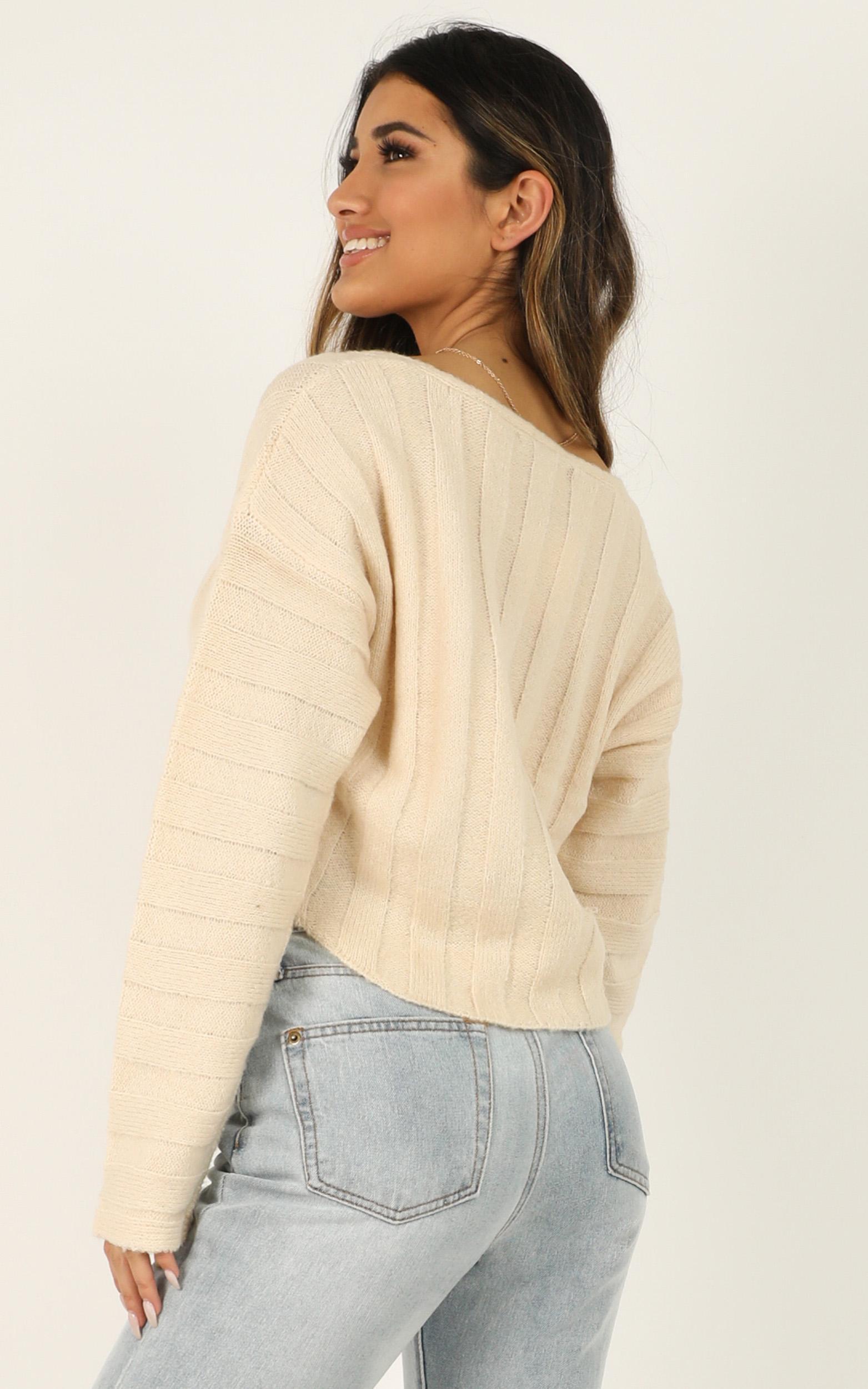 Exact Details knit jumper in cream - 12 (L), Cream, hi-res image number null