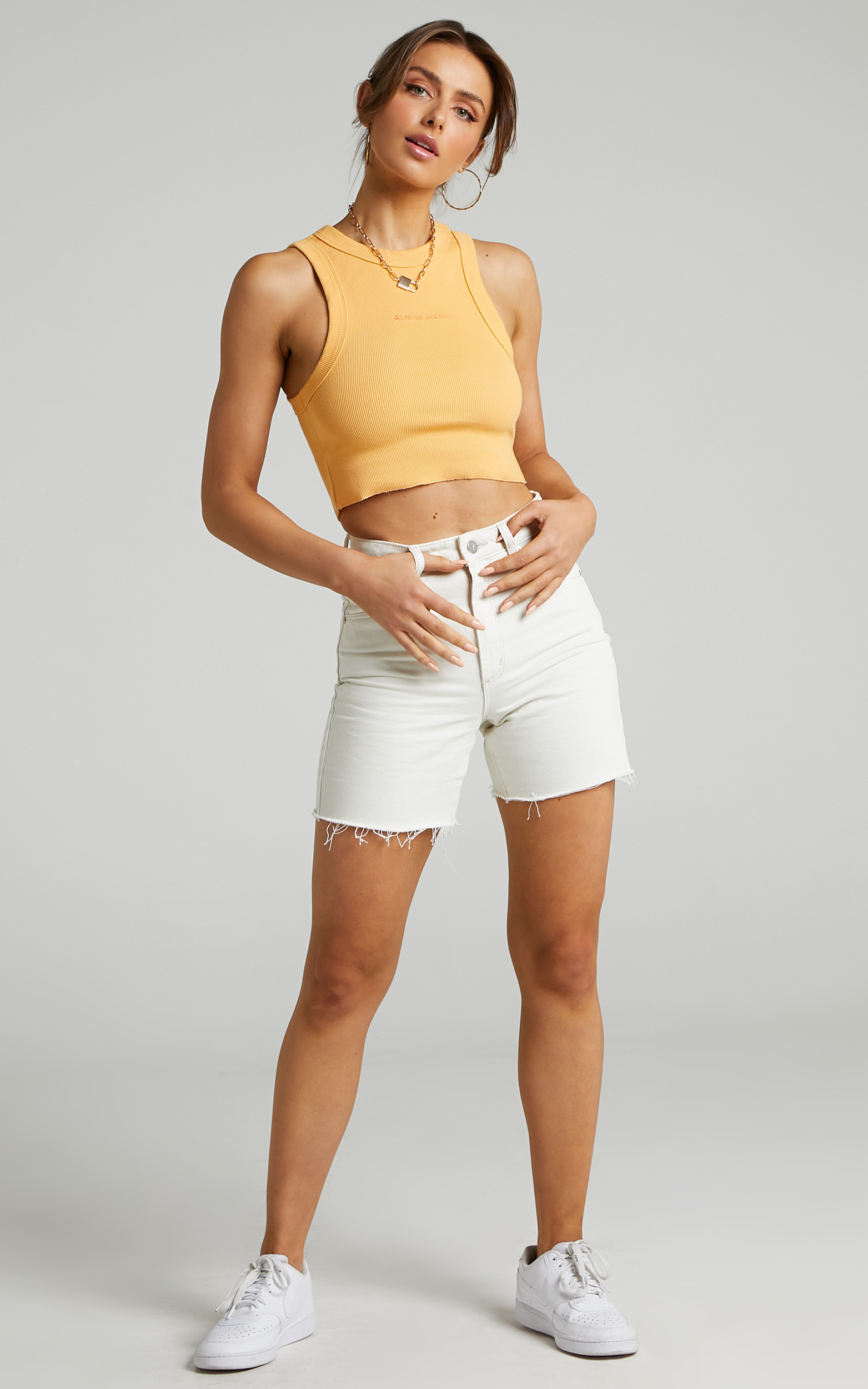 Abrand - A Heather Singlet in Tangerine - L, ORG1, hi-res image number null