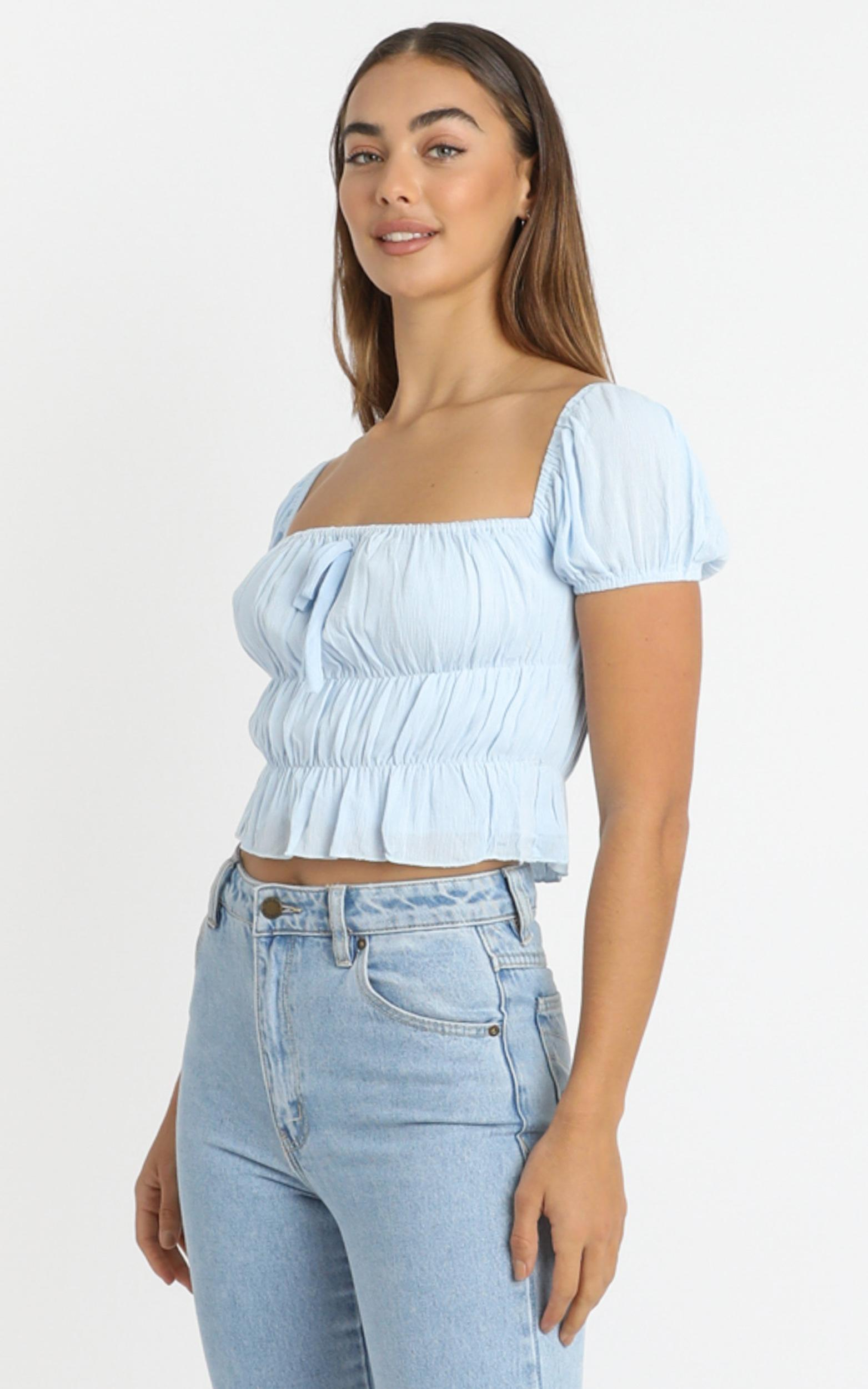 Gimme Top in sky blue - 6 (XS), Blue, hi-res image number null