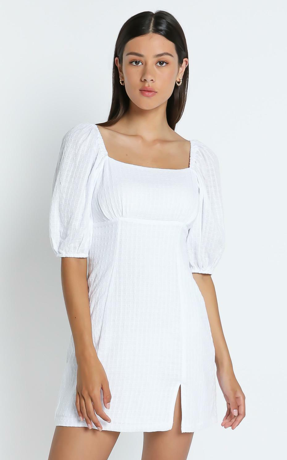 Electric Babe Dress in White - 4 (XXS), WHT1, hi-res image number null