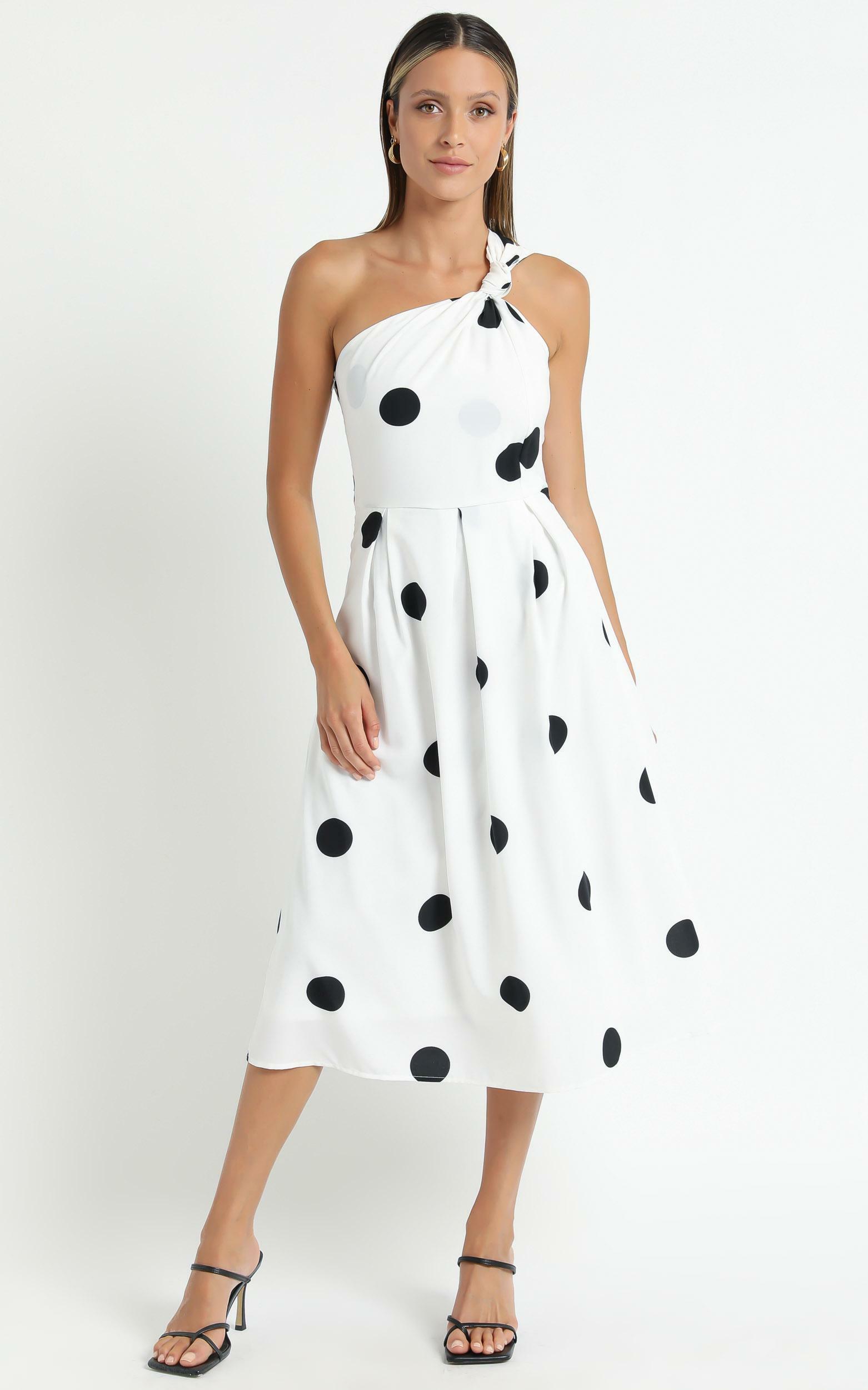 Lakeyn Dress in White Polka - 06, WHT1, hi-res image number null