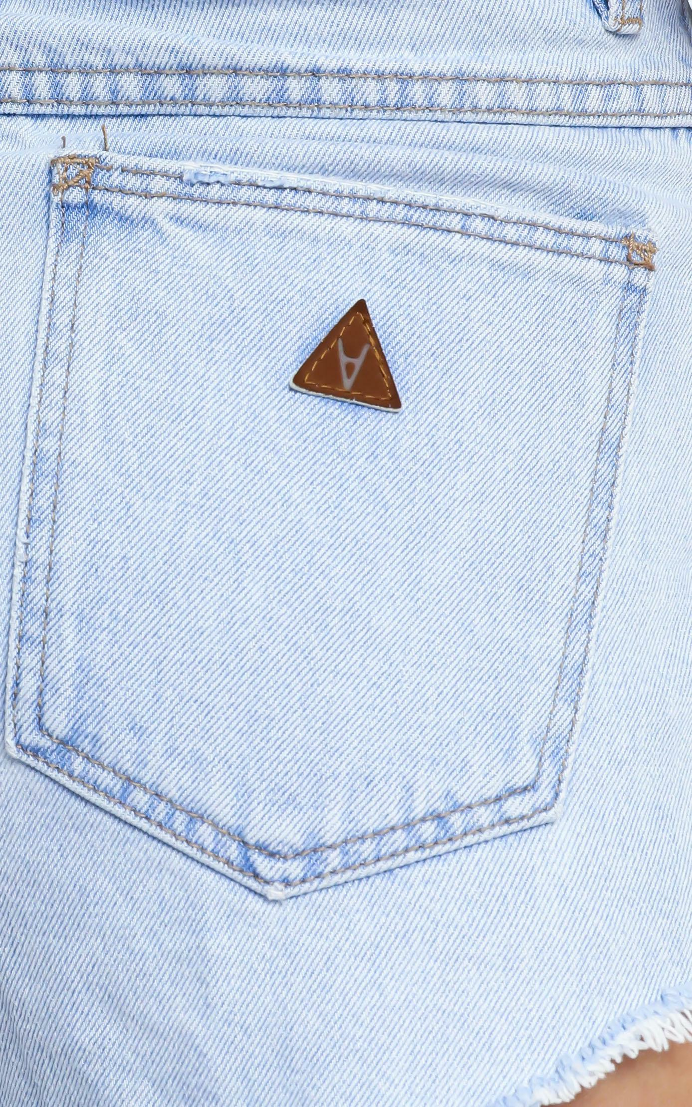 Abrand - A High Relaxed Denim Short in Smooth - 6 (XS), Blue, hi-res image number null
