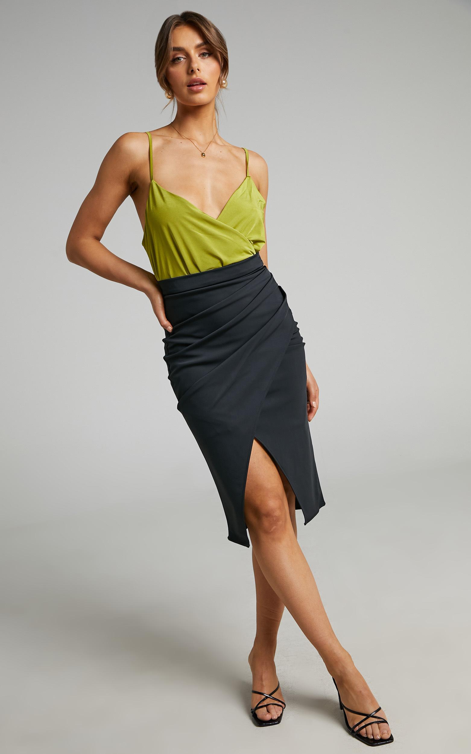 Keyara Midi Skirt in Black - 04, BLK1, hi-res image number null