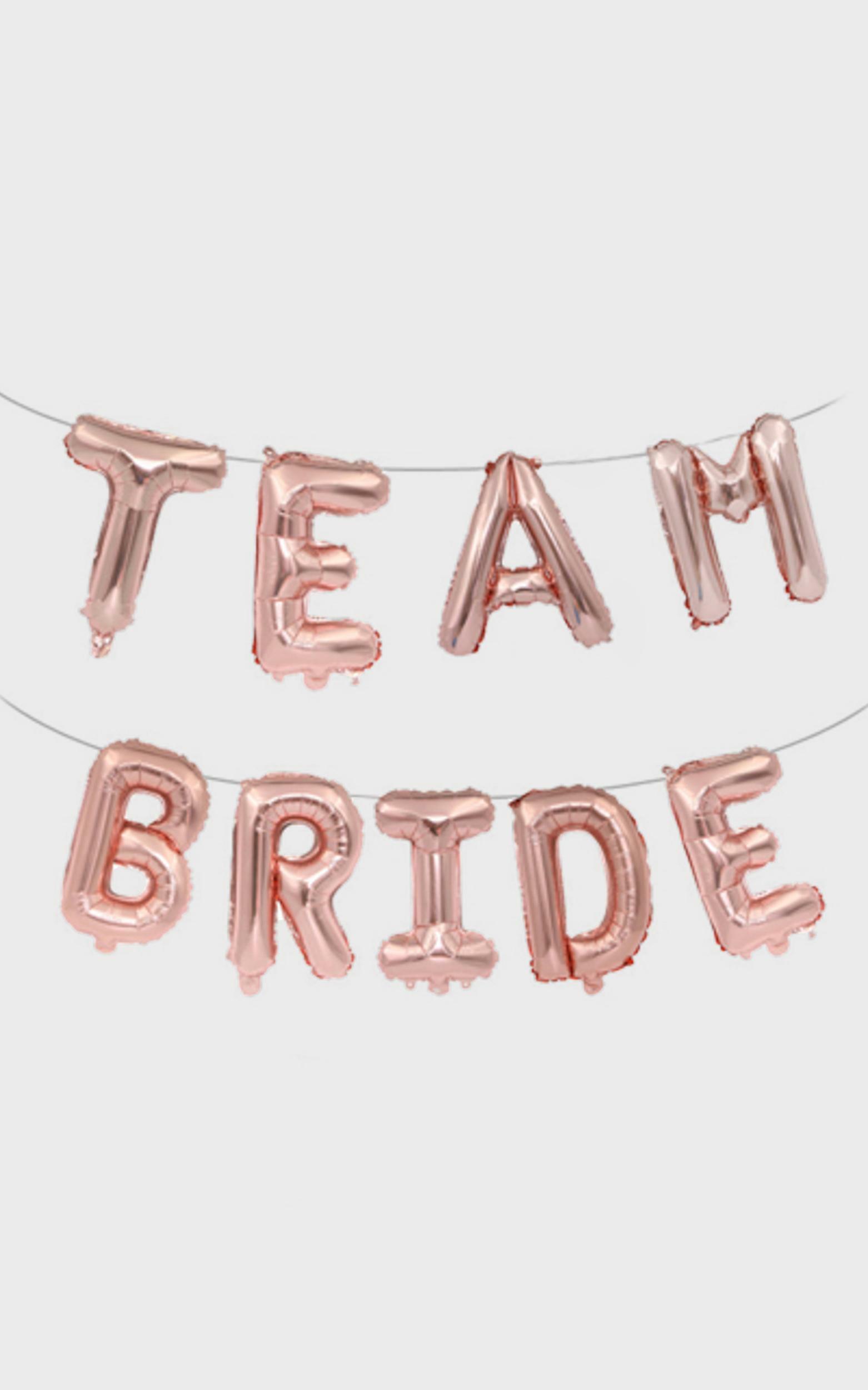 Team Bride Balloon Banner in Pink, PNK1, hi-res image number null