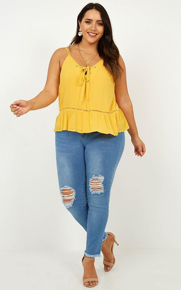 In The Loop Top in Mango - 12 (L), Yellow, hi-res image number null