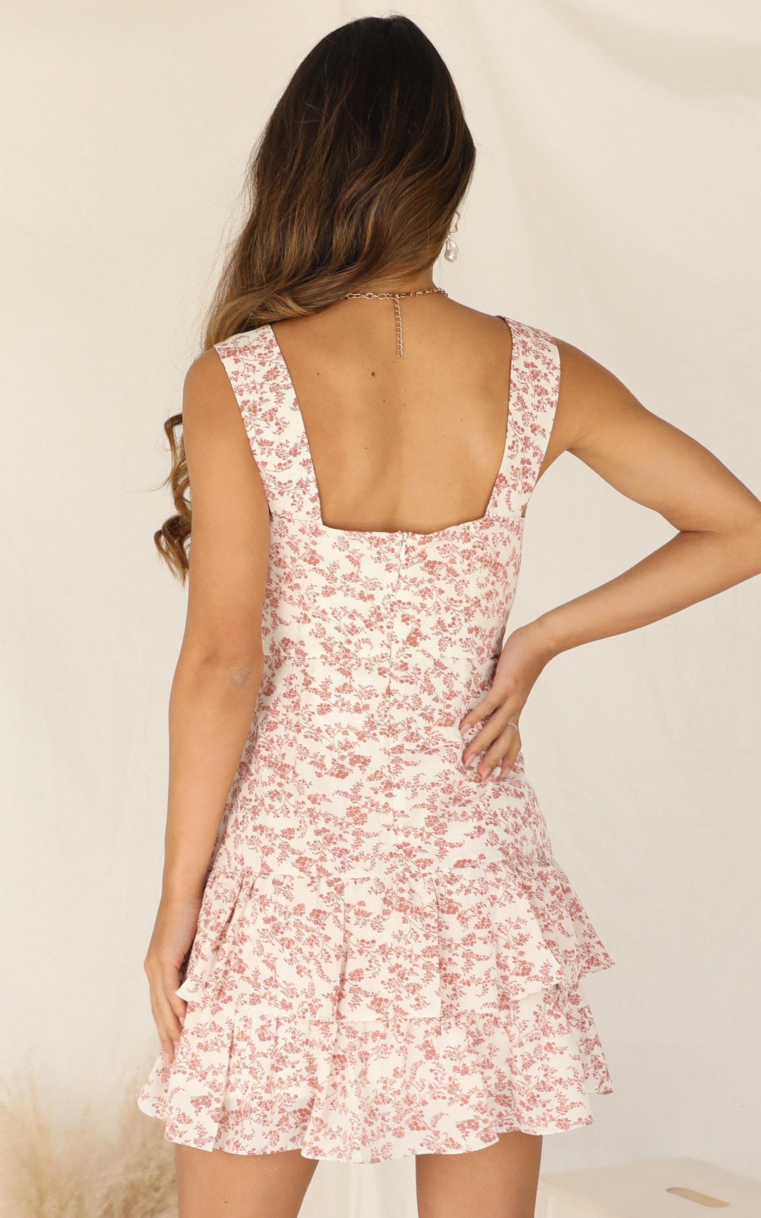 We Made It Dress In Peach Floral - 16 (XXL), Pink, hi-res image number null