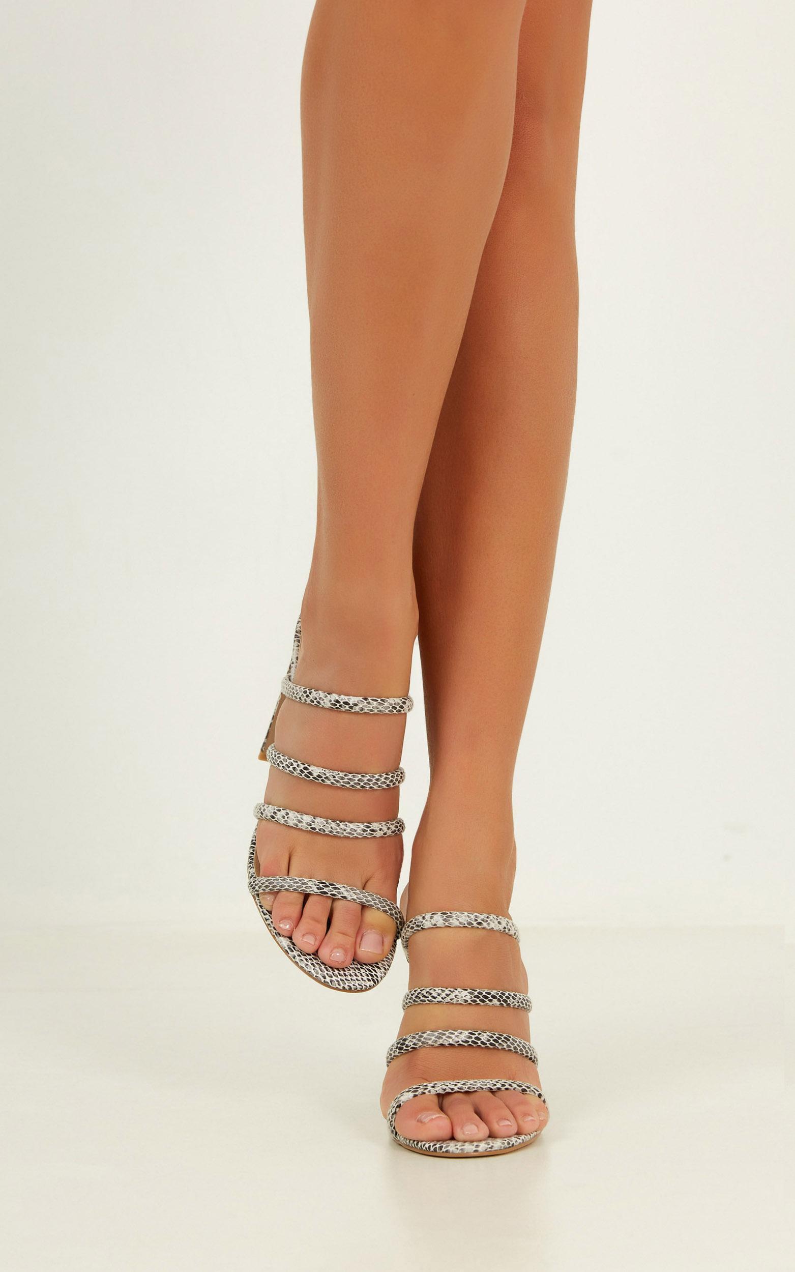Billini - Daciana heels in white reptile - 10, Grey, hi-res image number null