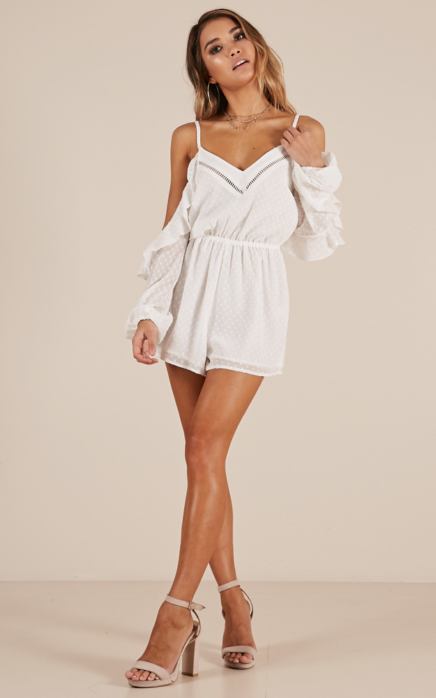 Take Time Out playsuit in white - 20 (XXXXL), White, hi-res image number null
