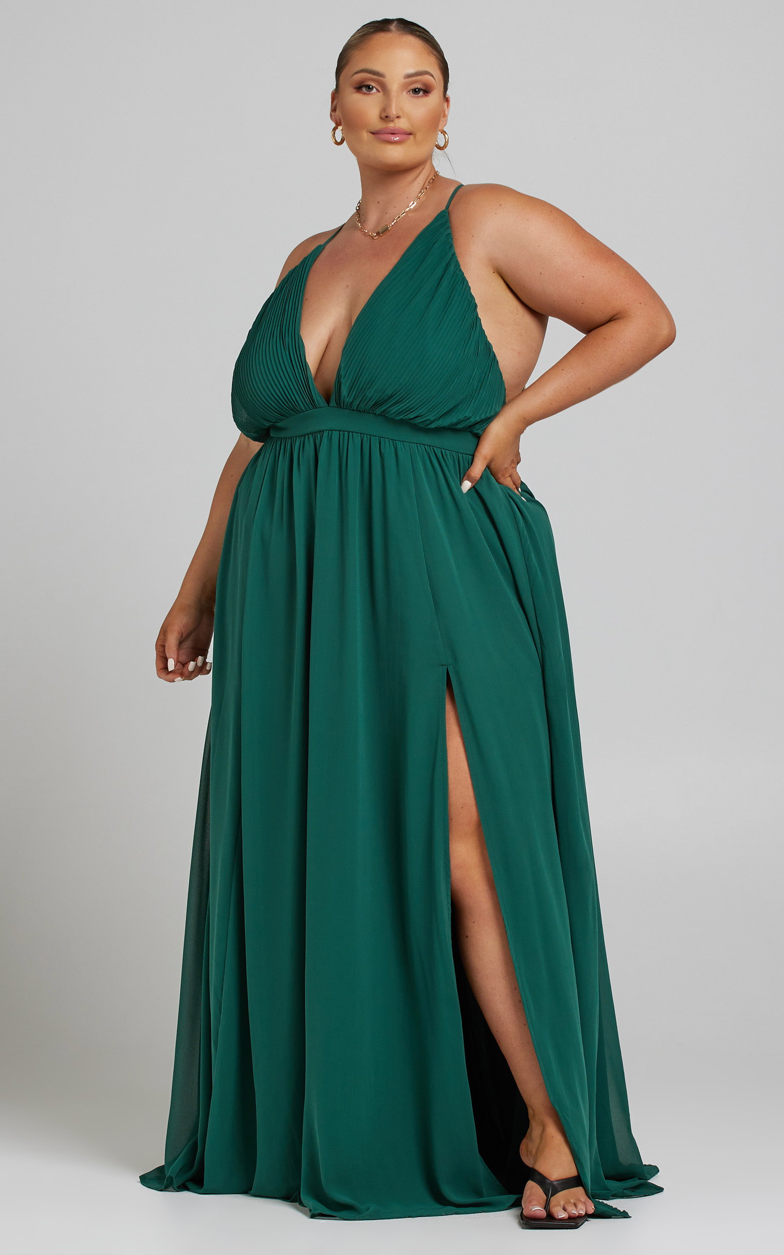 Shes A Delight Maxi Dress in Emerald - 06, GRN2, hi-res image number null