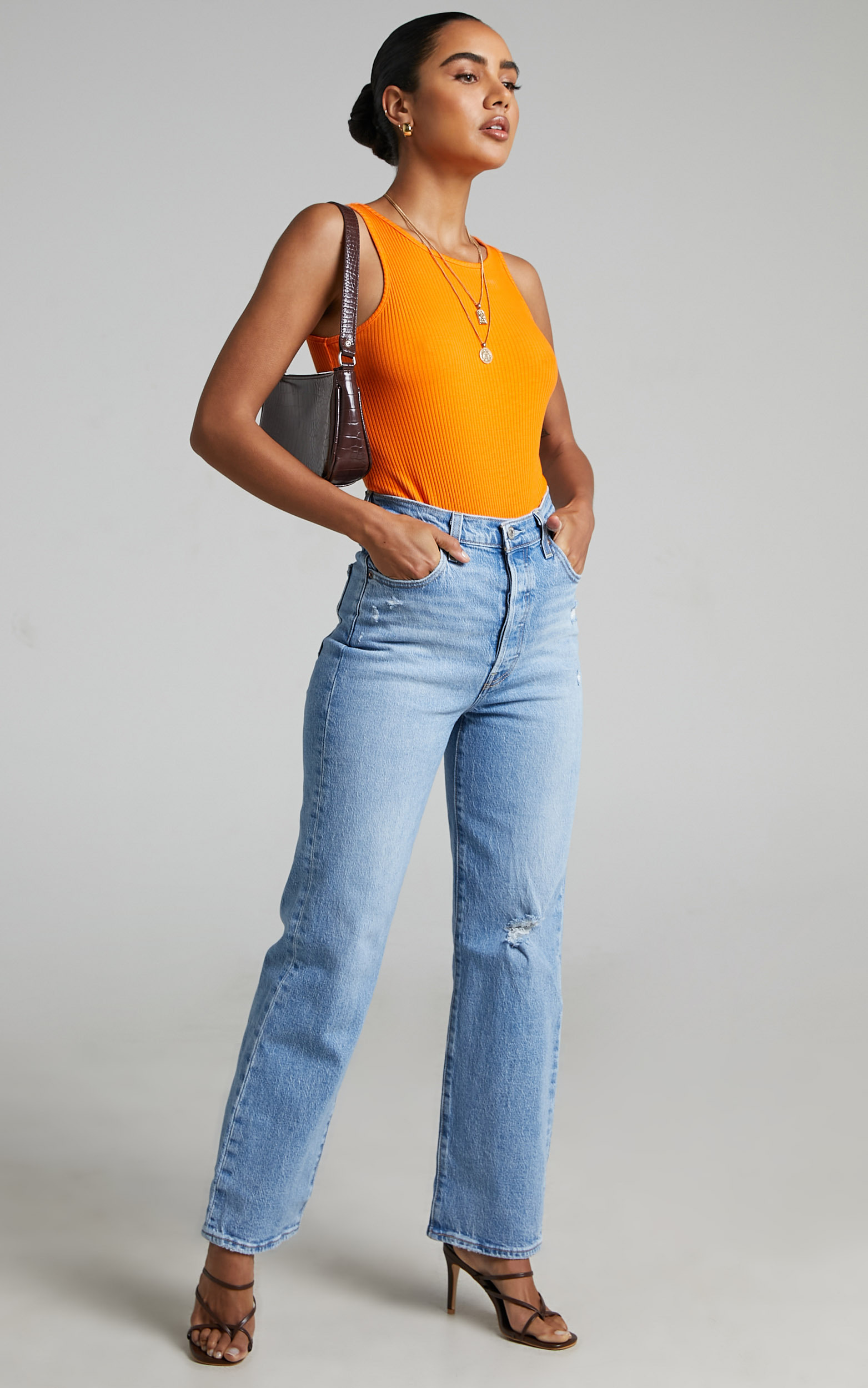 Levis - Ribcage Straight Jean in Samba Done - 06, BLU1, hi-res image number null