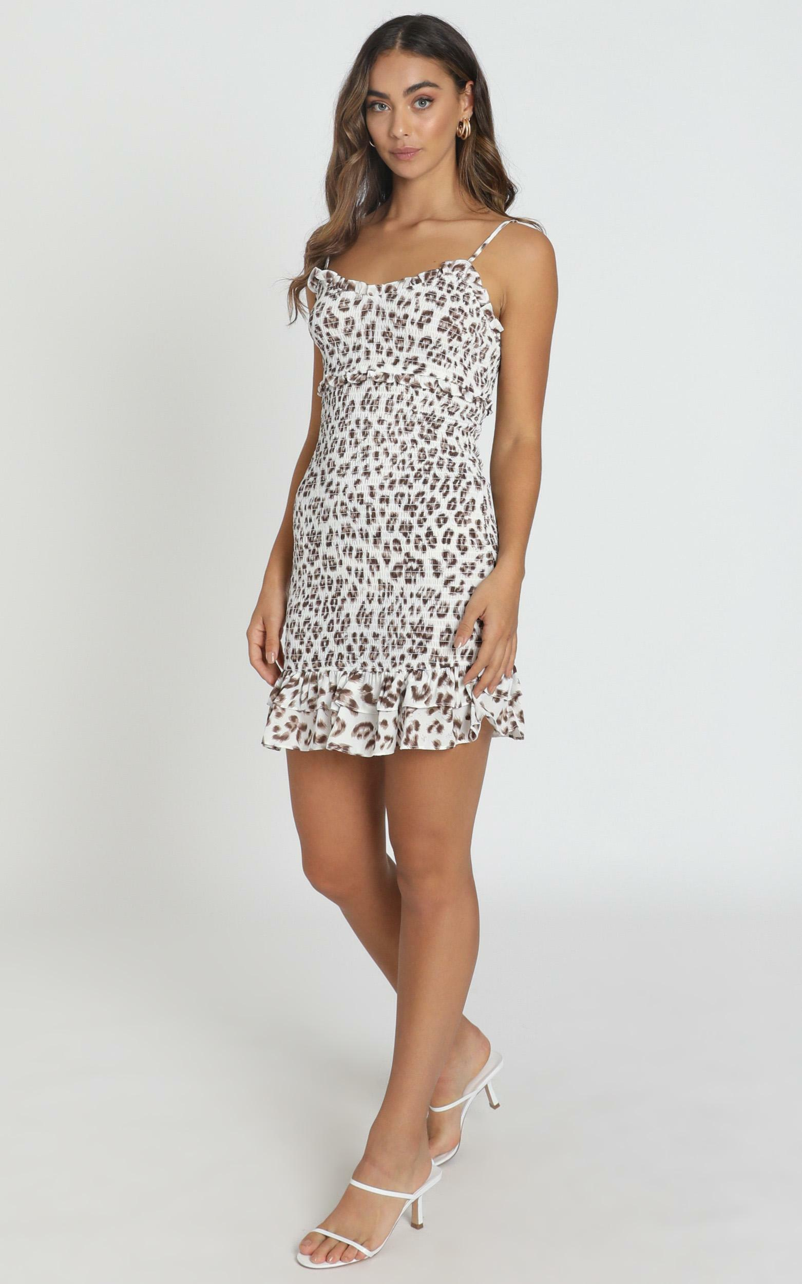 For Sure Dress in leopard print - 8 (S), Brown, hi-res image number null