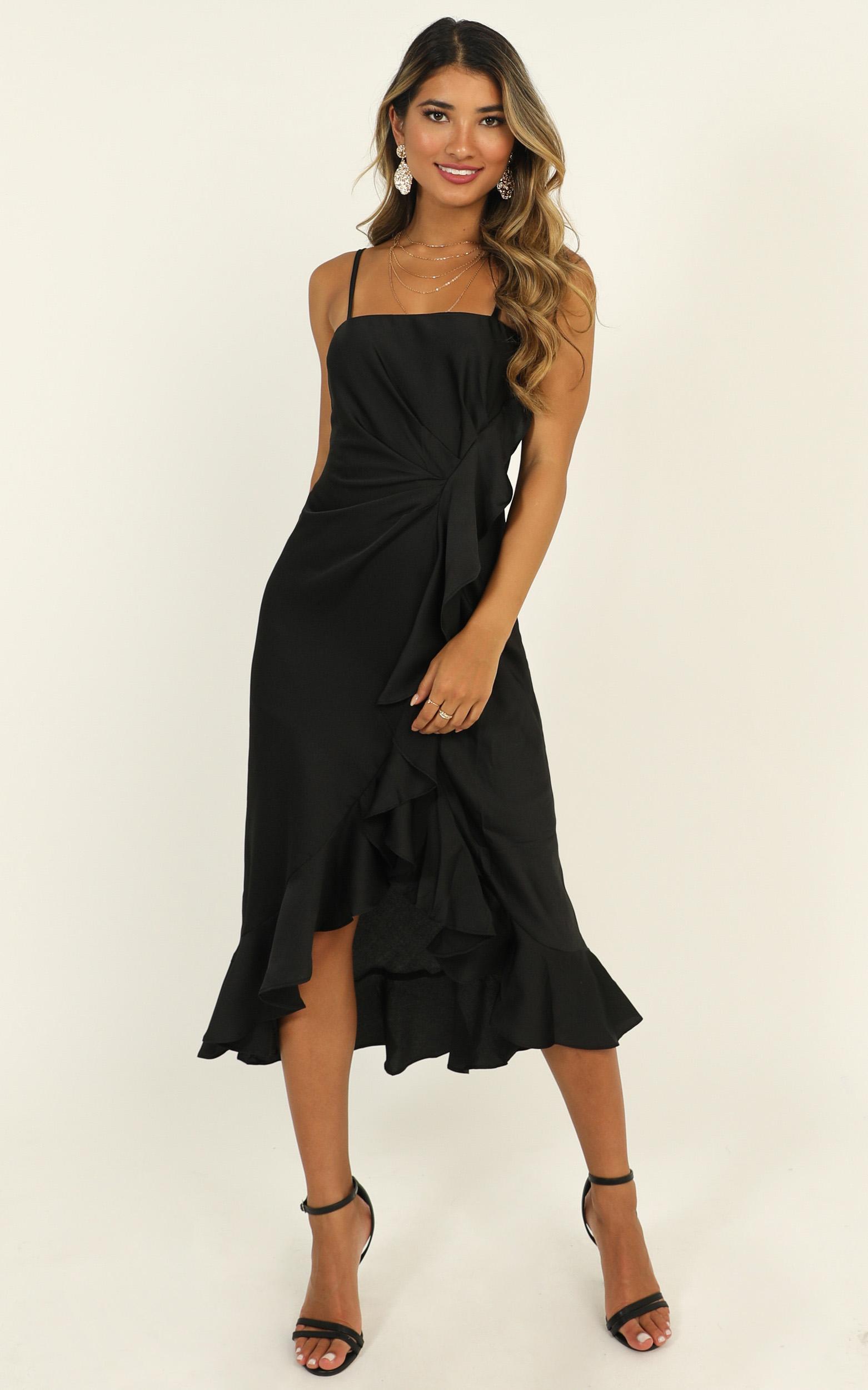 The Best Way dress in black - 16 (XXL), Black, hi-res image number null