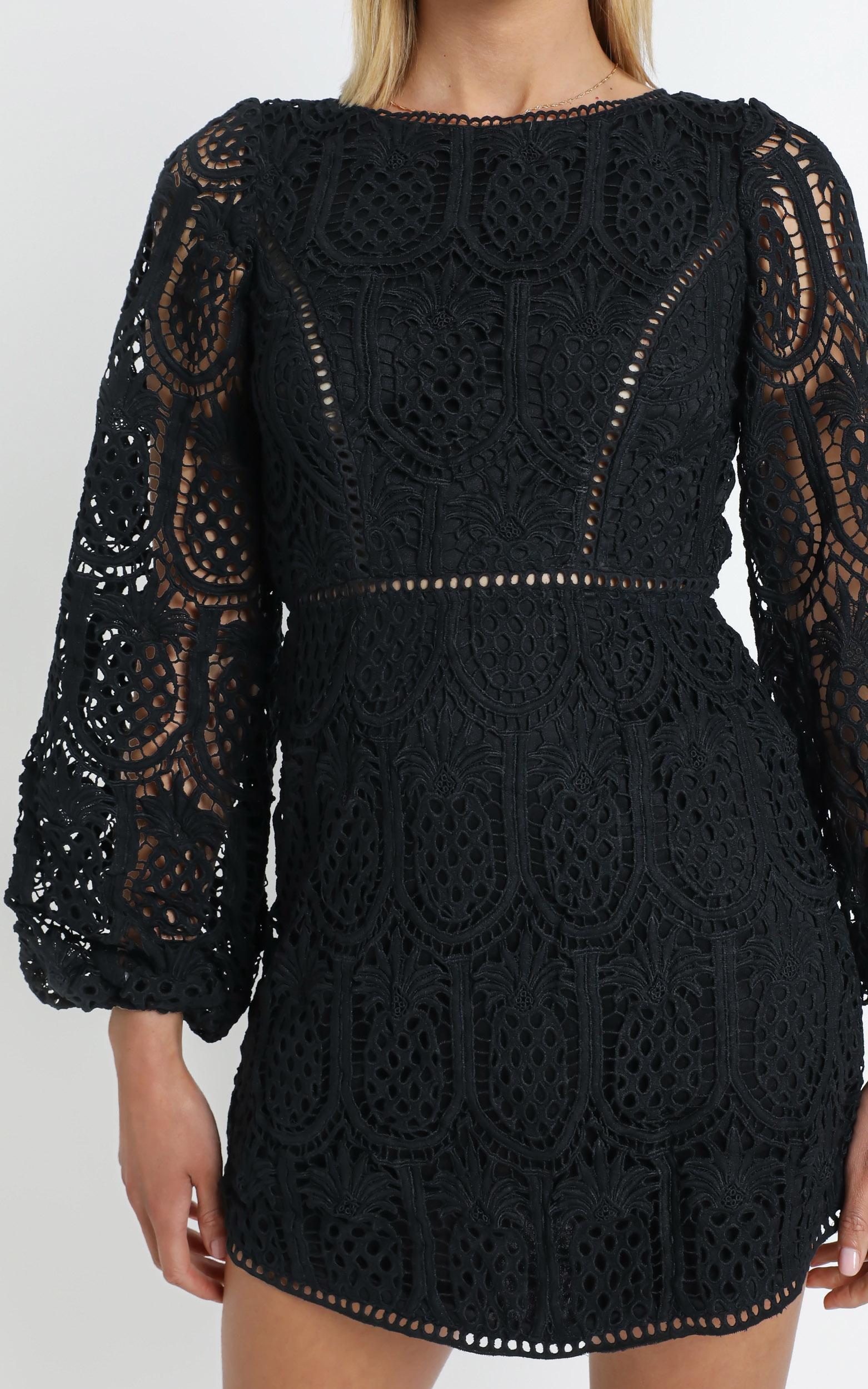 Adeena Dress in Black - 12 (L), Black, hi-res image number null