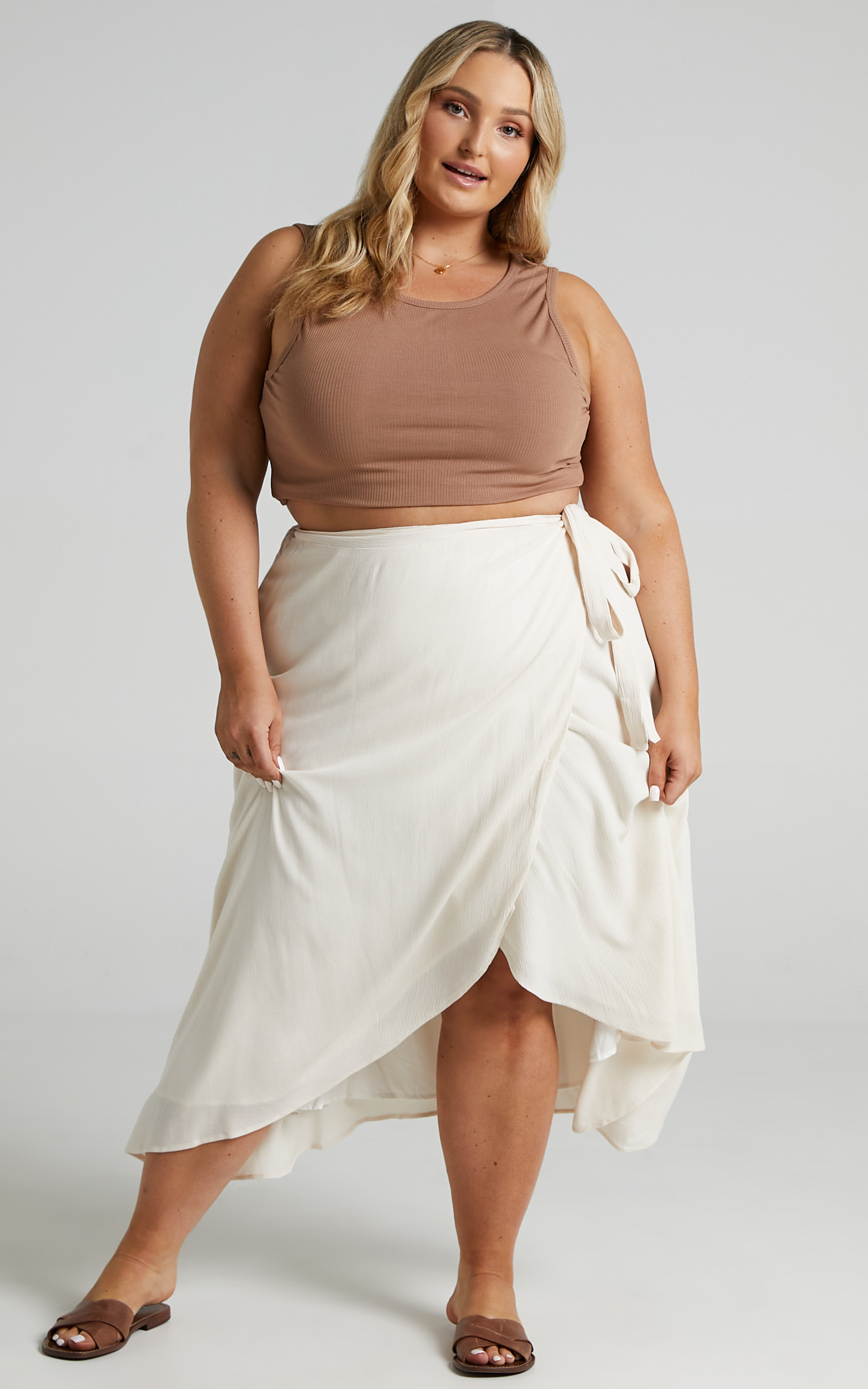 Come Find Me Skirt in White Linen Look - 20, WHT2, hi-res image number null