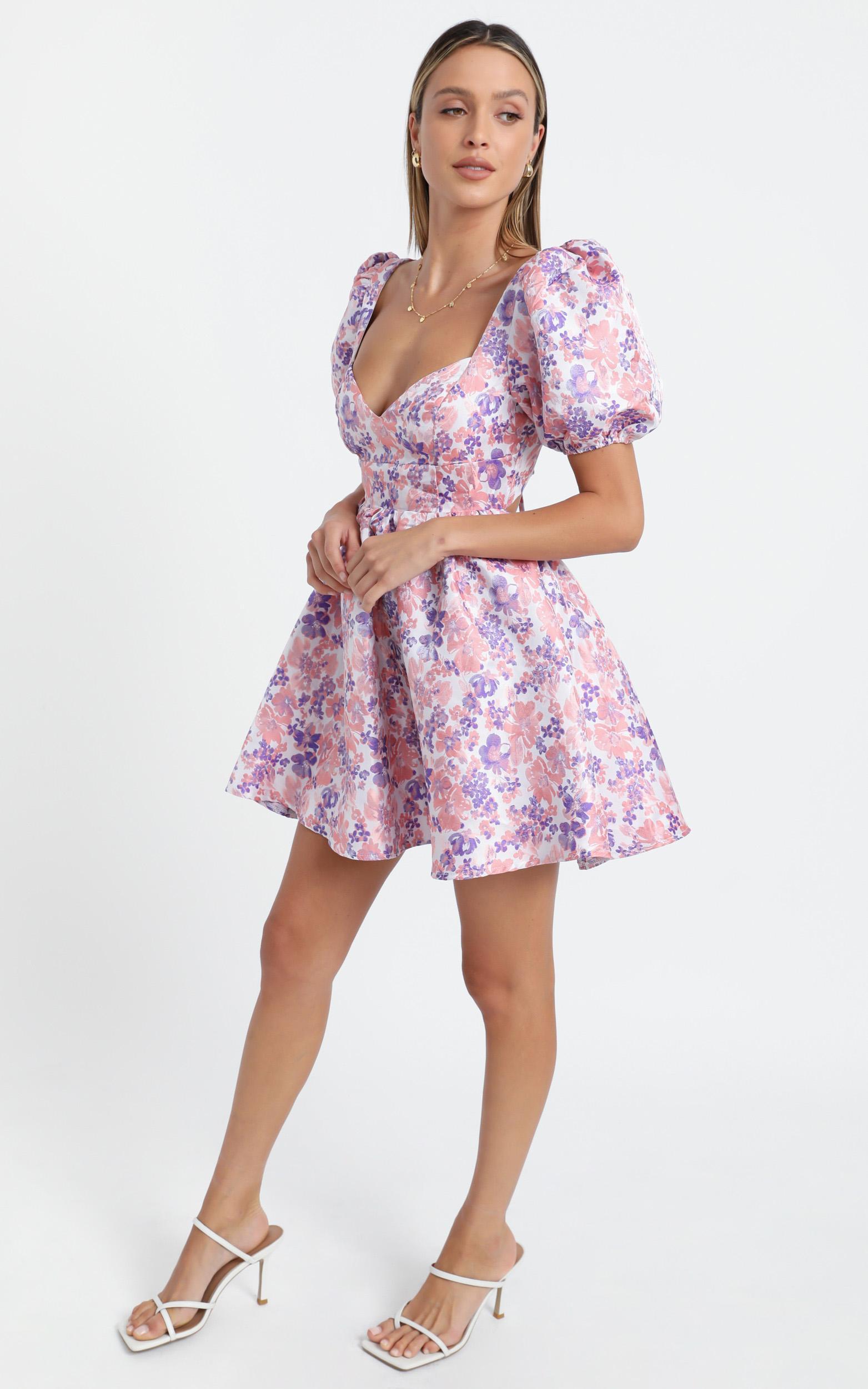 Nicolette Dress in Multi Floral - 6 (XS), Multi, hi-res image number null
