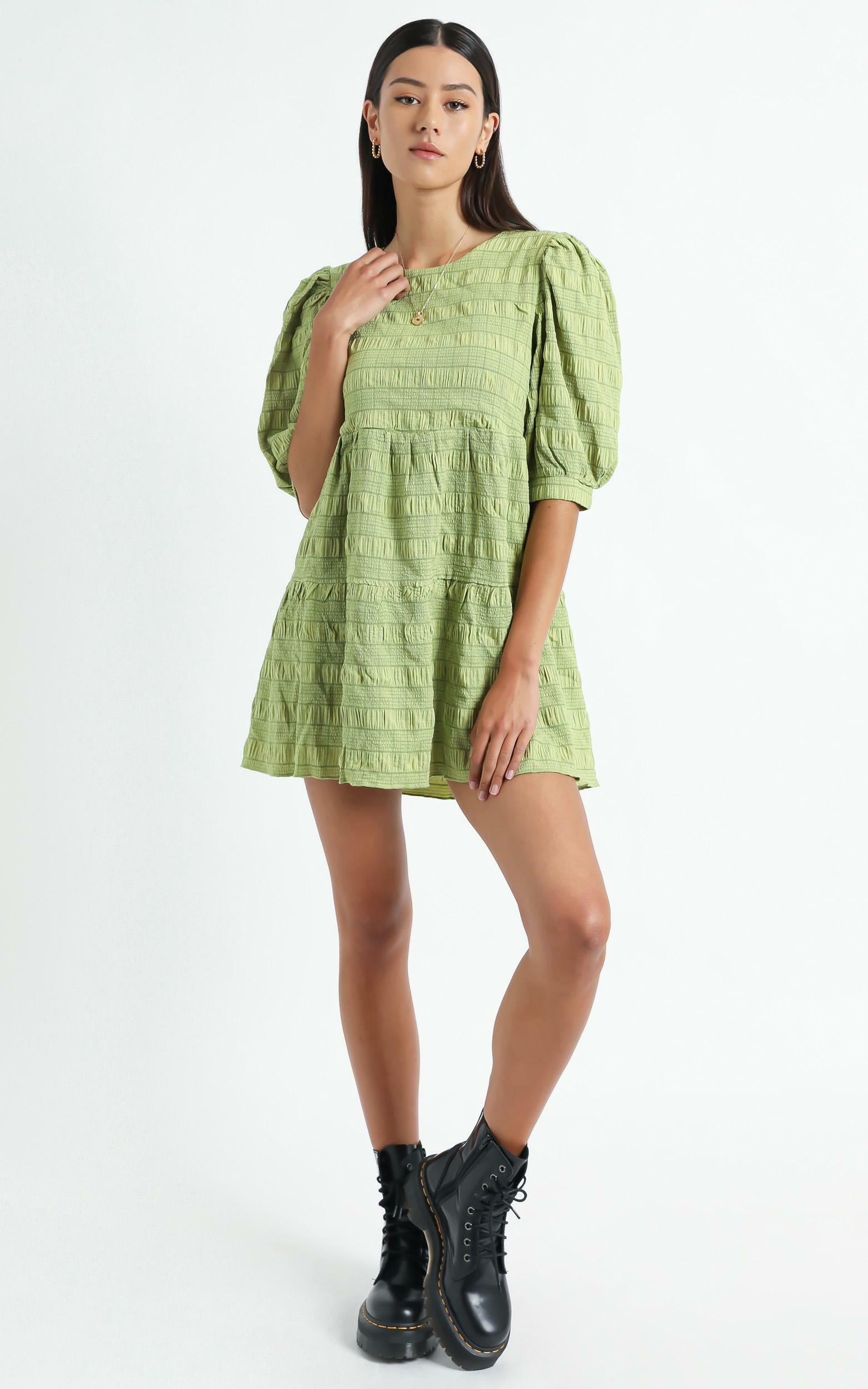 Darcia Dress in Green Check - 06, GRN1, hi-res image number null