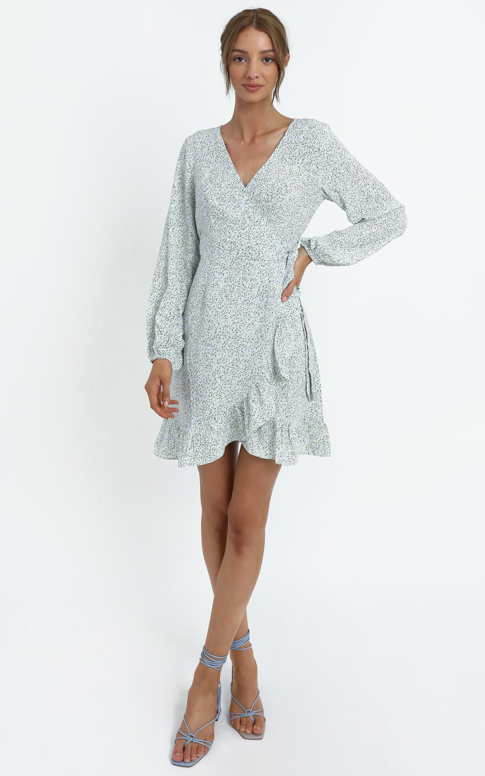 Clovelly Dress in Blue - 14 (XL), Blue, hi-res image number null