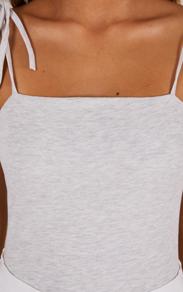 You Glow Girl bodysuit in grey marle - 4 (XXS), Grey, hi-res image number null
