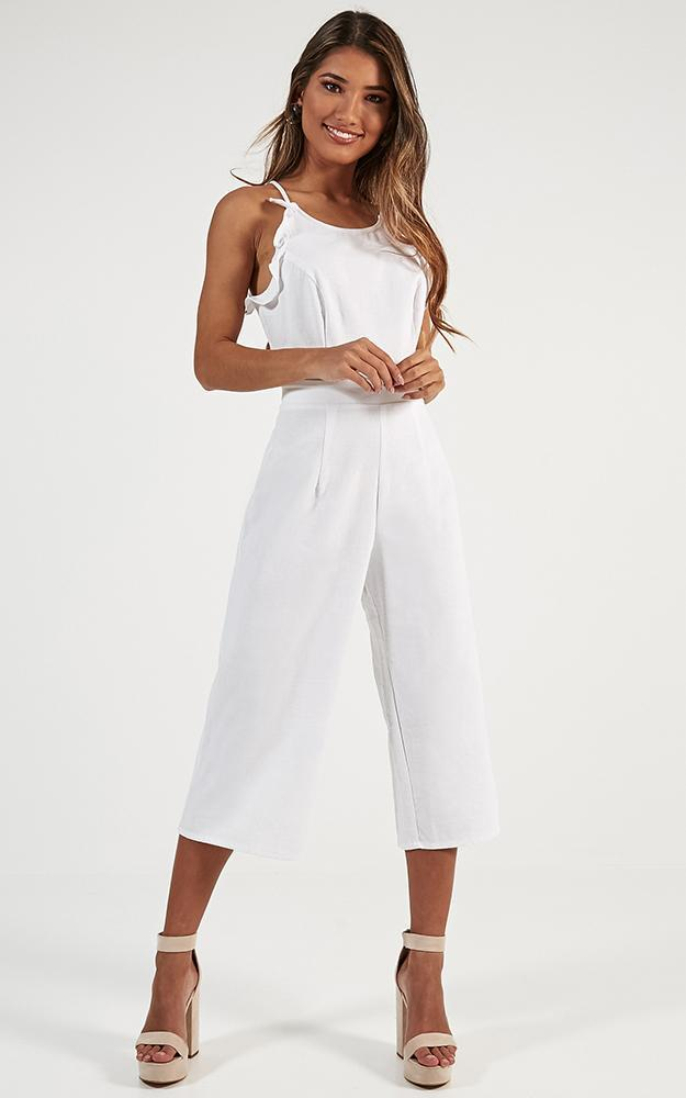 My Exclusive Jumpsuit in white linen look - 12 (L), White, hi-res image number null
