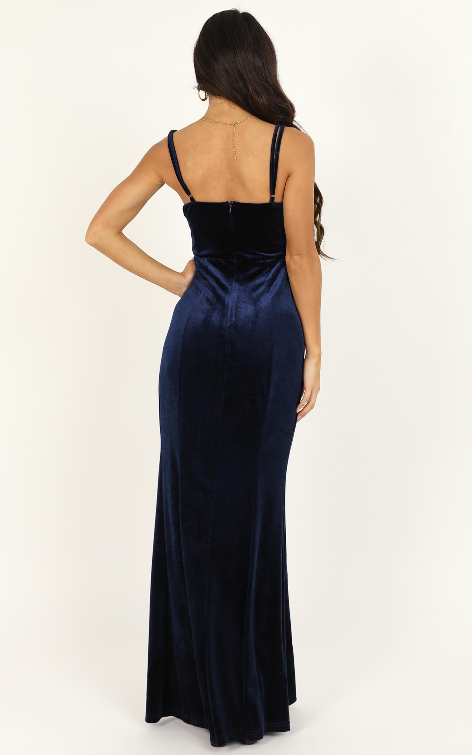 Be Who You Must Dress in navy velvet  - 18 (XXXL), Navy, hi-res image number null