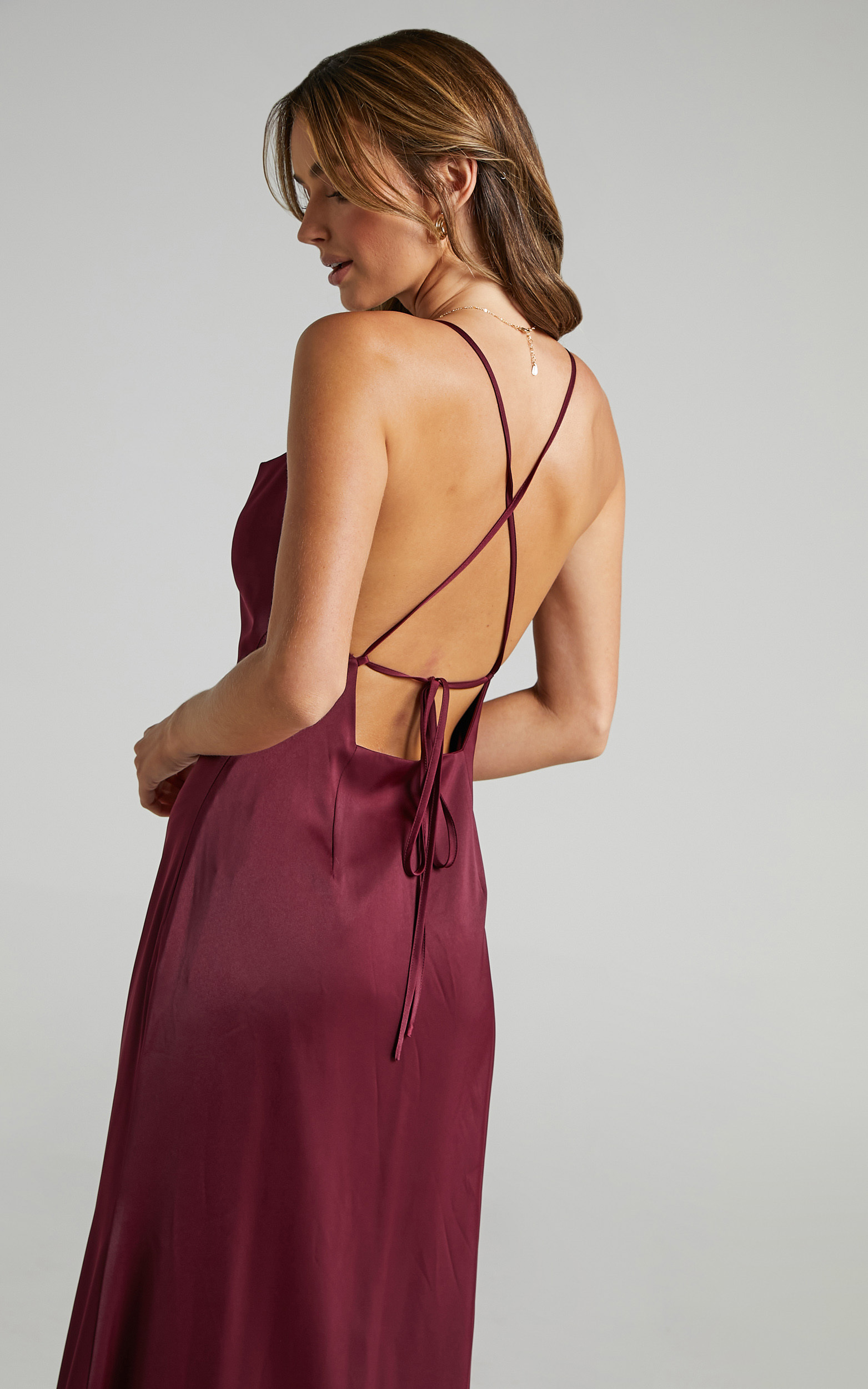 A Final Toast Dress in Mulberry Satin - 06, PRP3, hi-res image number null