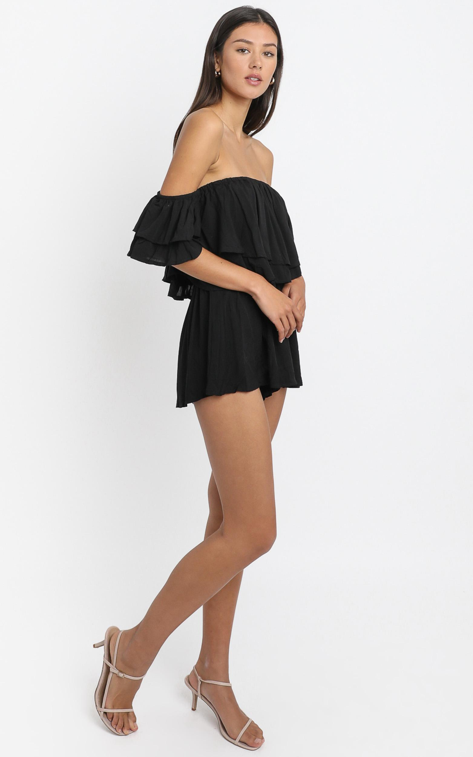 Be My Guest playsuit in black - 4 (XXS), Black, hi-res image number null