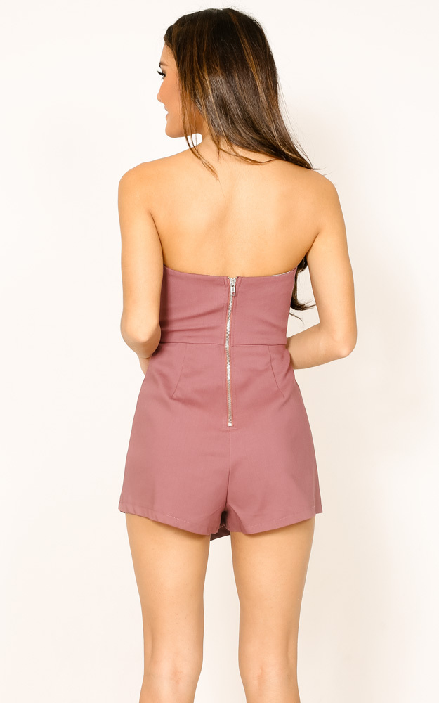 Caught My Eyes playsuit in plum - 6 (XS), Purple, hi-res image number null