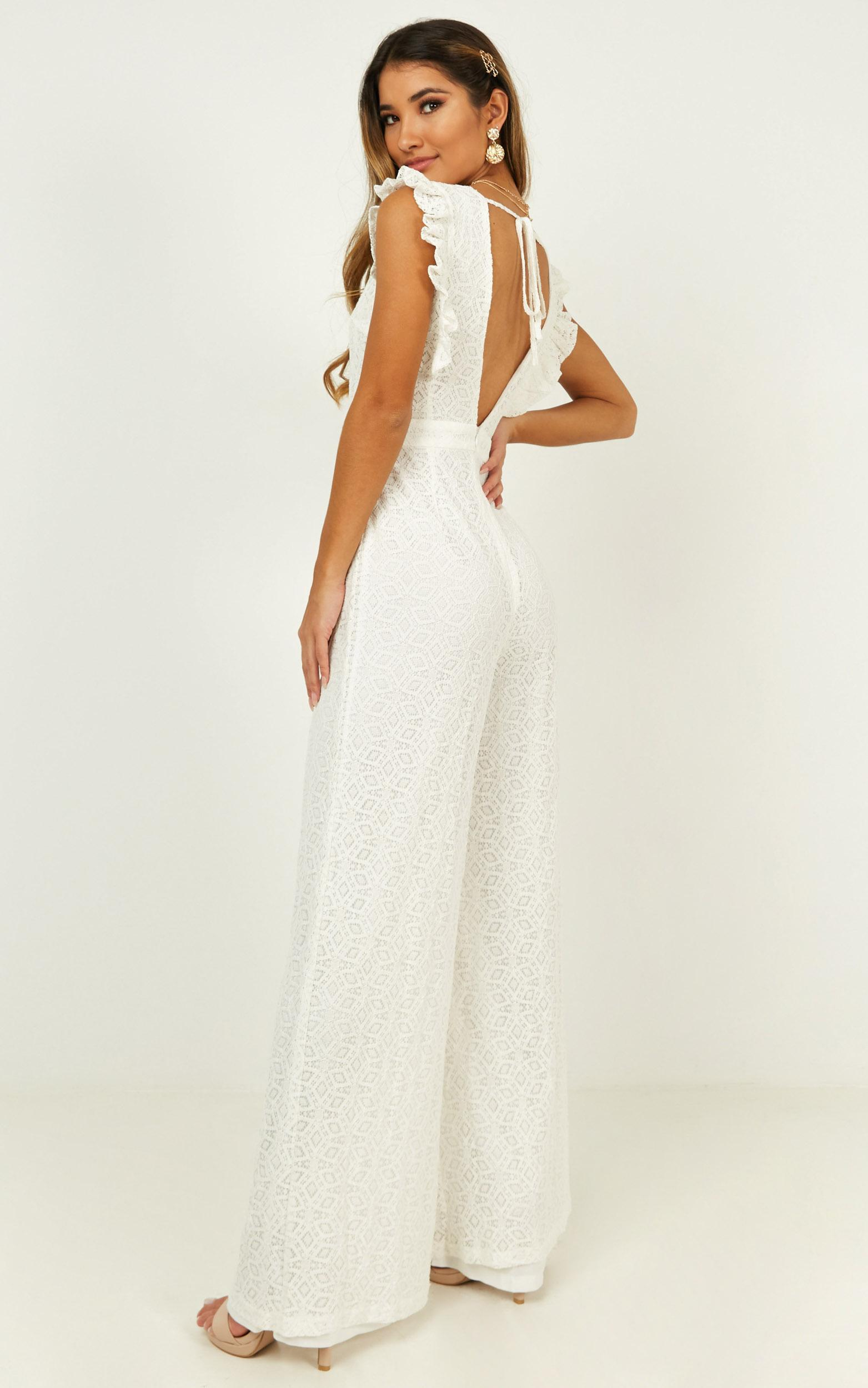If You Wanna Jumpsuit in white lace - 20 (XXXXL), White, hi-res image number null