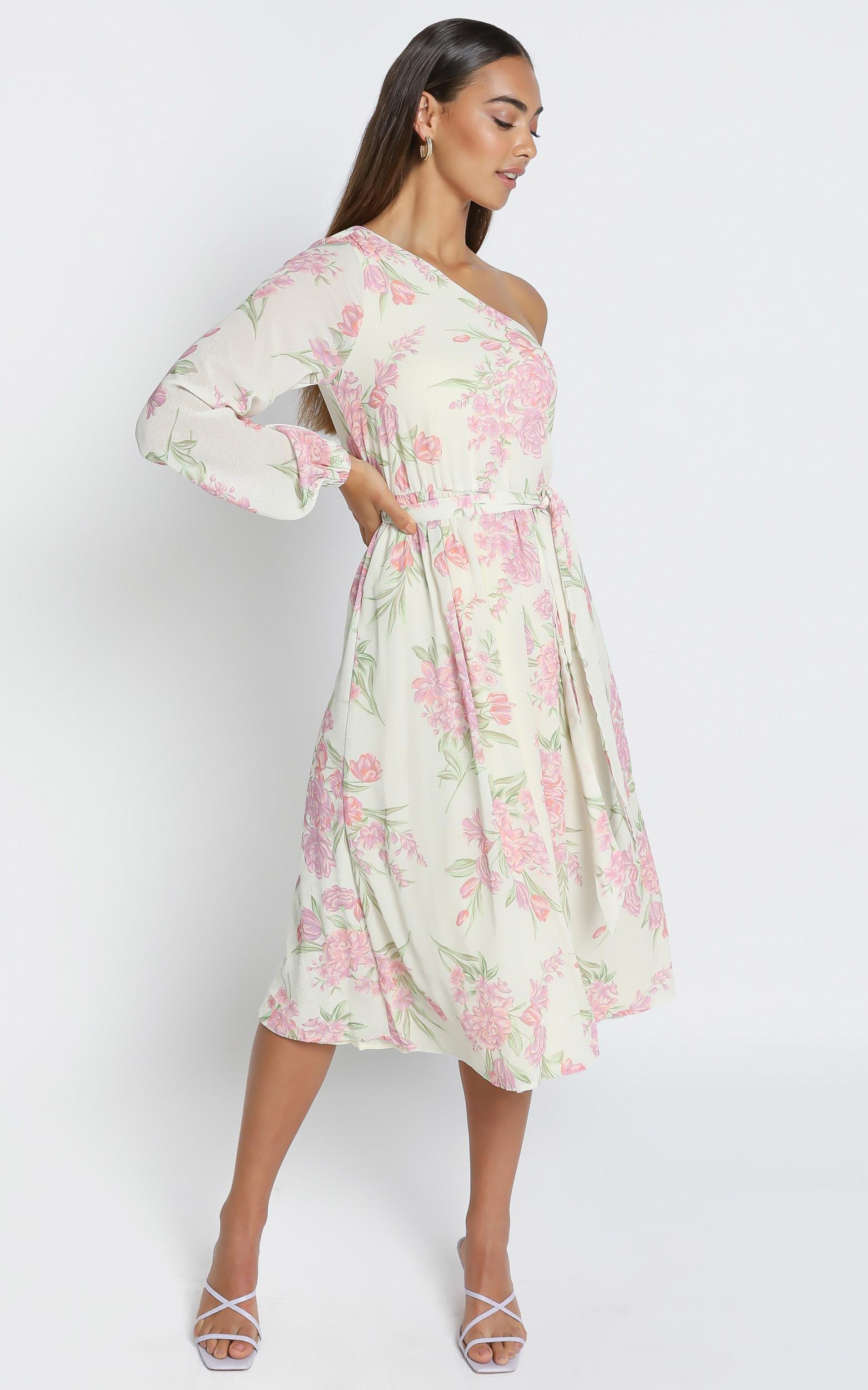 The Cerise Midi dress in Cream Floral - 6 (XS), Cream, hi-res image number null