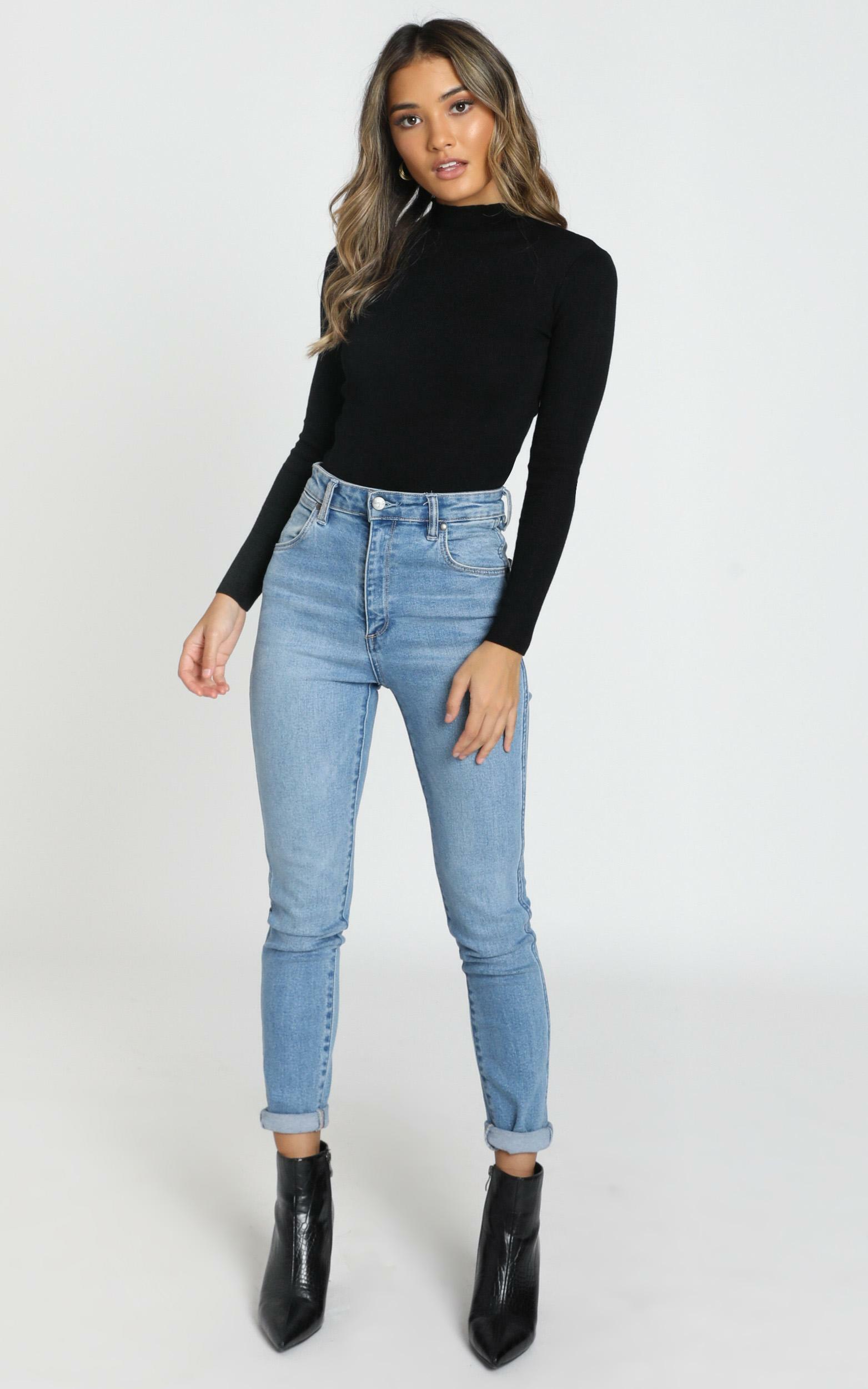 Lust For Life knit top in black - 6 (XS), Black, hi-res image number null