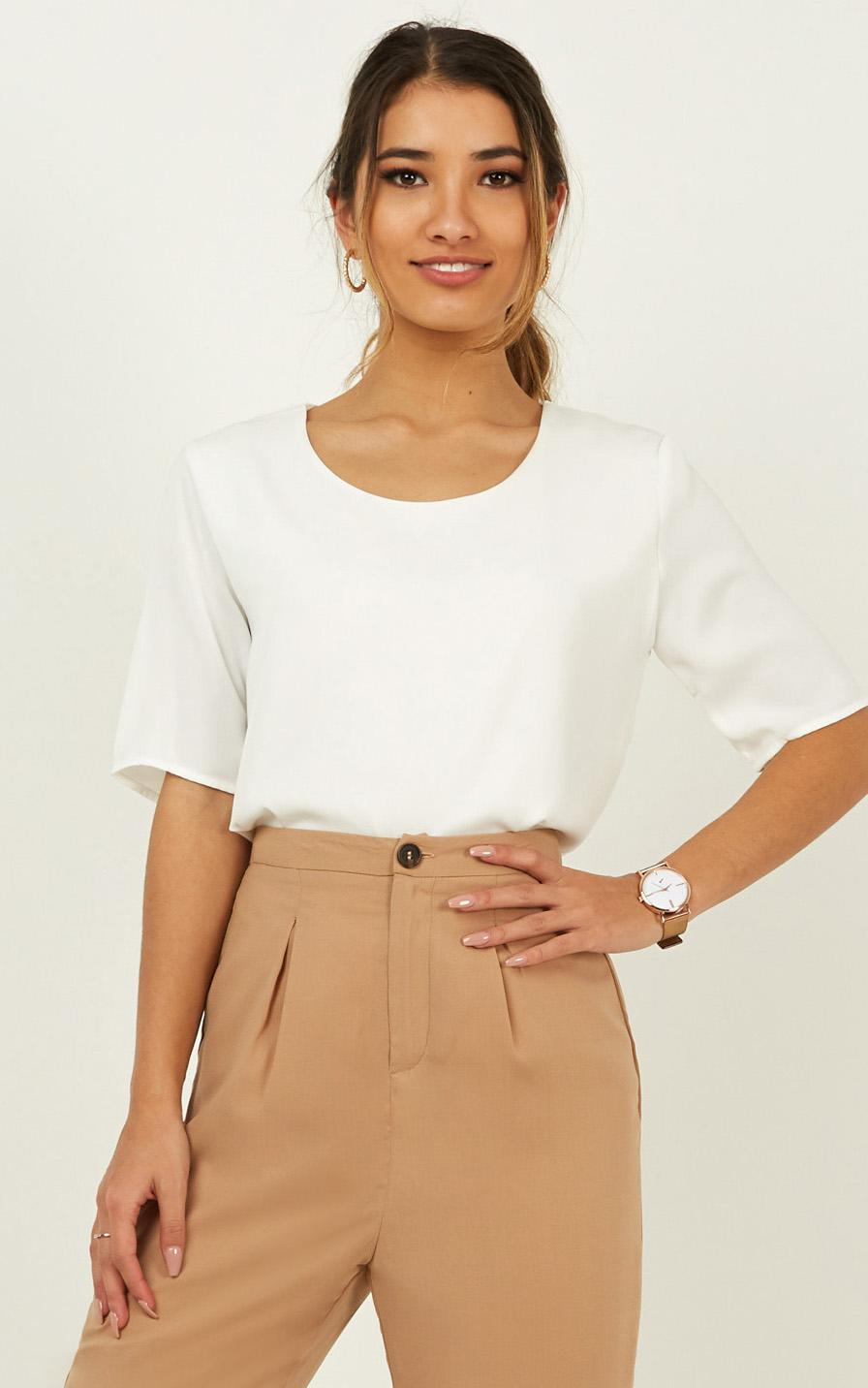 Guidance Top In White - 4 (XXS), White, hi-res image number null