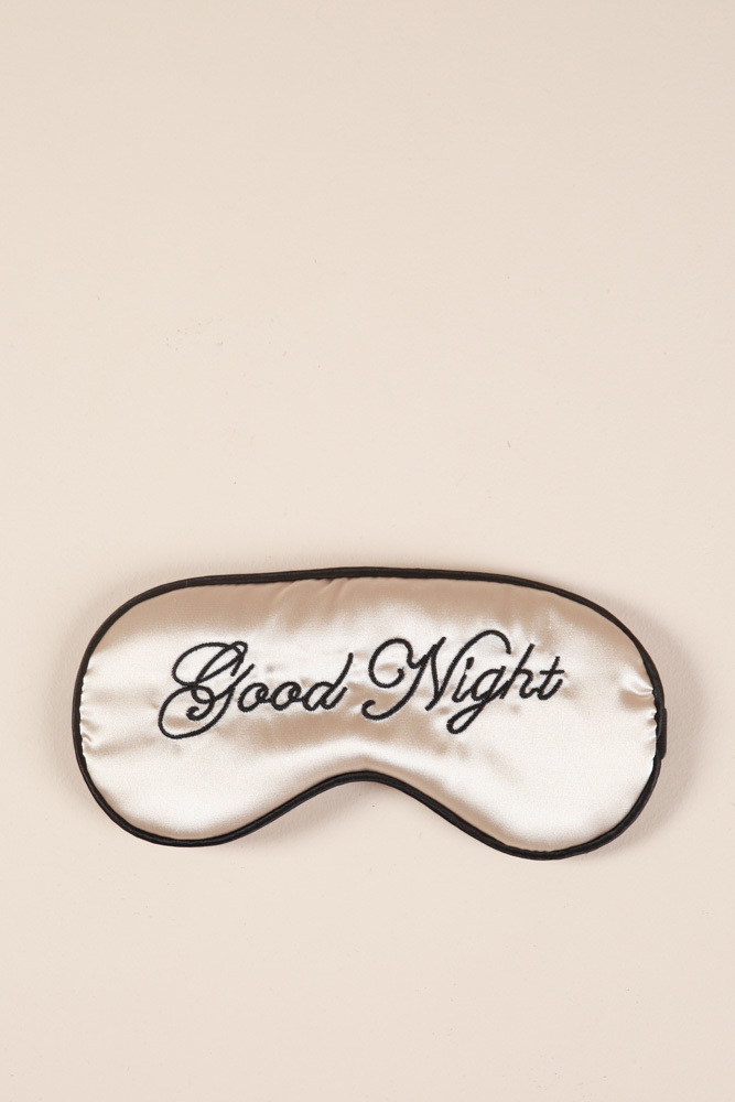 Sweet Dreams sleeping mask in champagne, , hi-res image number null