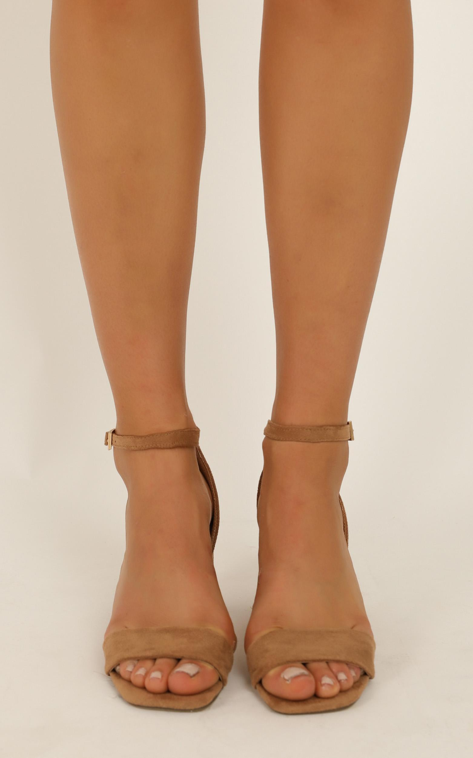 Therapy - Mae Heels in camel micro - 10, Camel, hi-res image number null