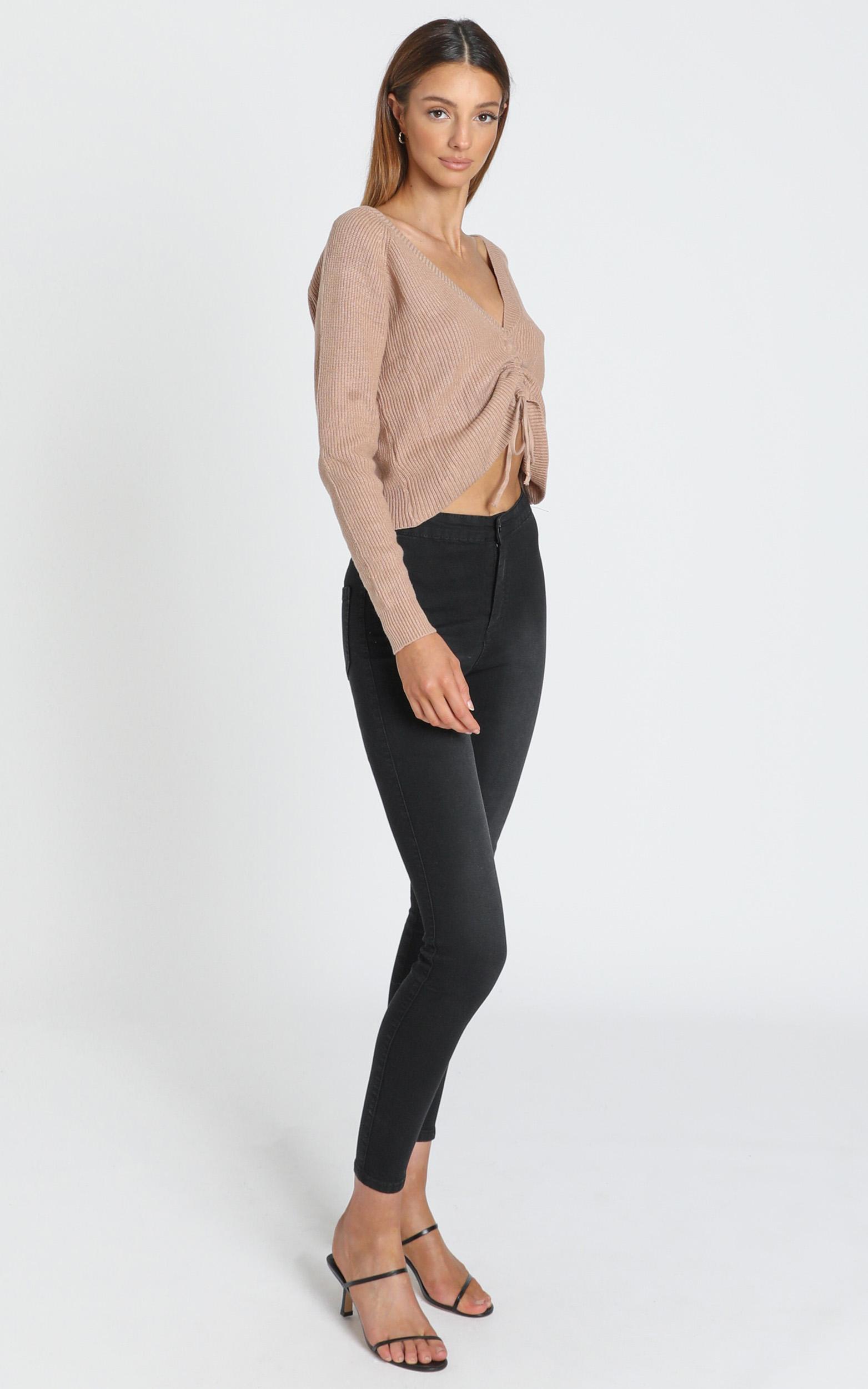 Madeline Skinny Jean in Washed Black  - 6 (XS), Black, hi-res image number null