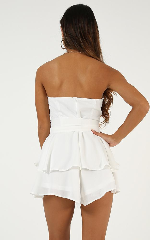 Beyond Dreams Playsuit In White  - 14 (XL), White, hi-res image number null
